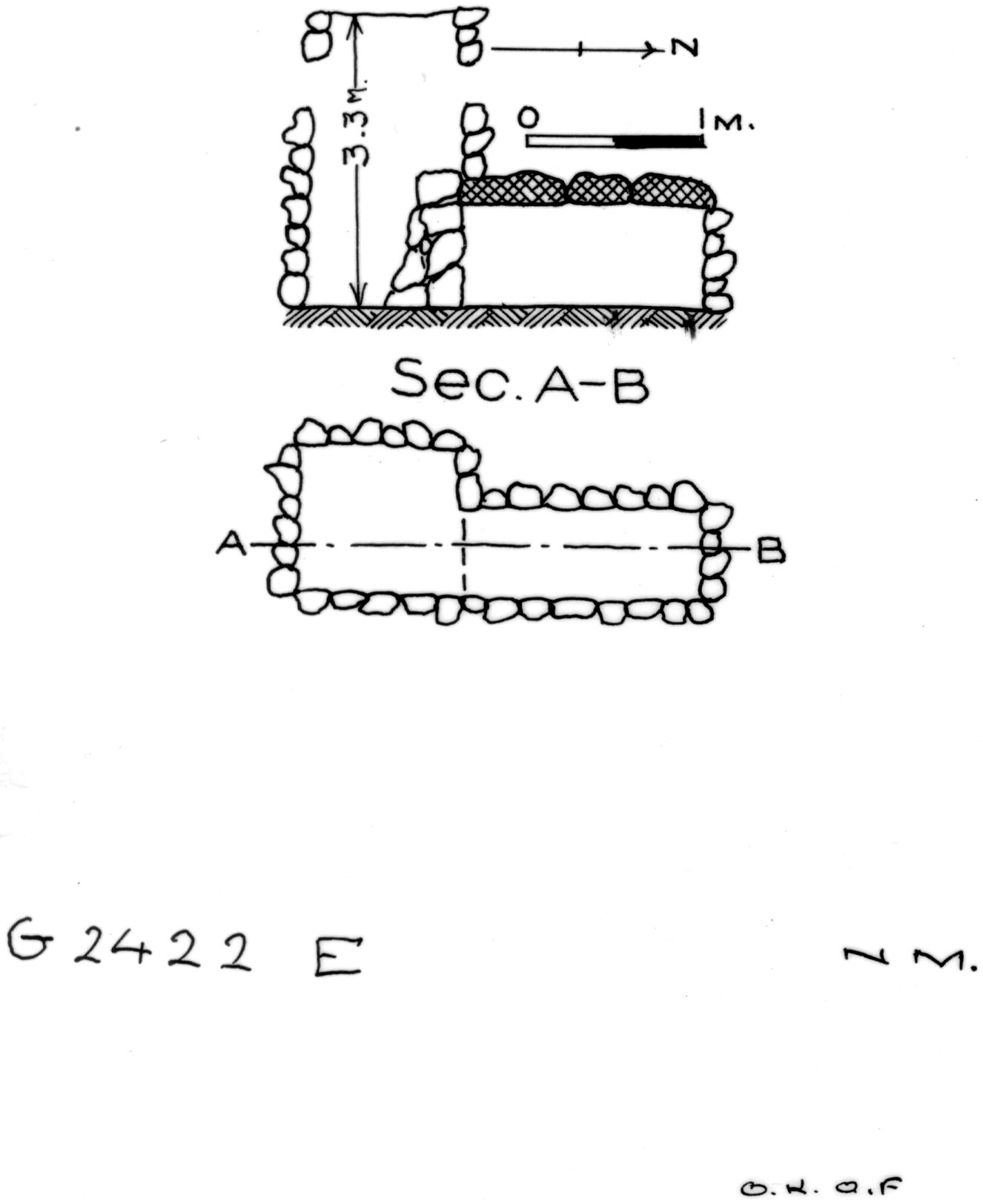 Maps and plans: G 2422, Shaft E