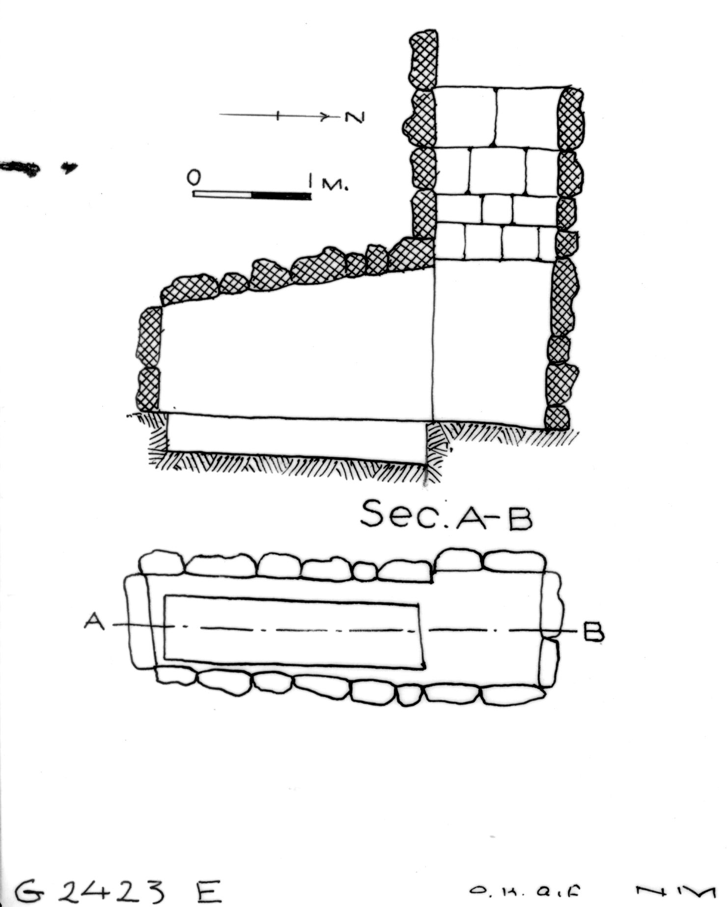 Maps and plans: G 2423, Shaft E