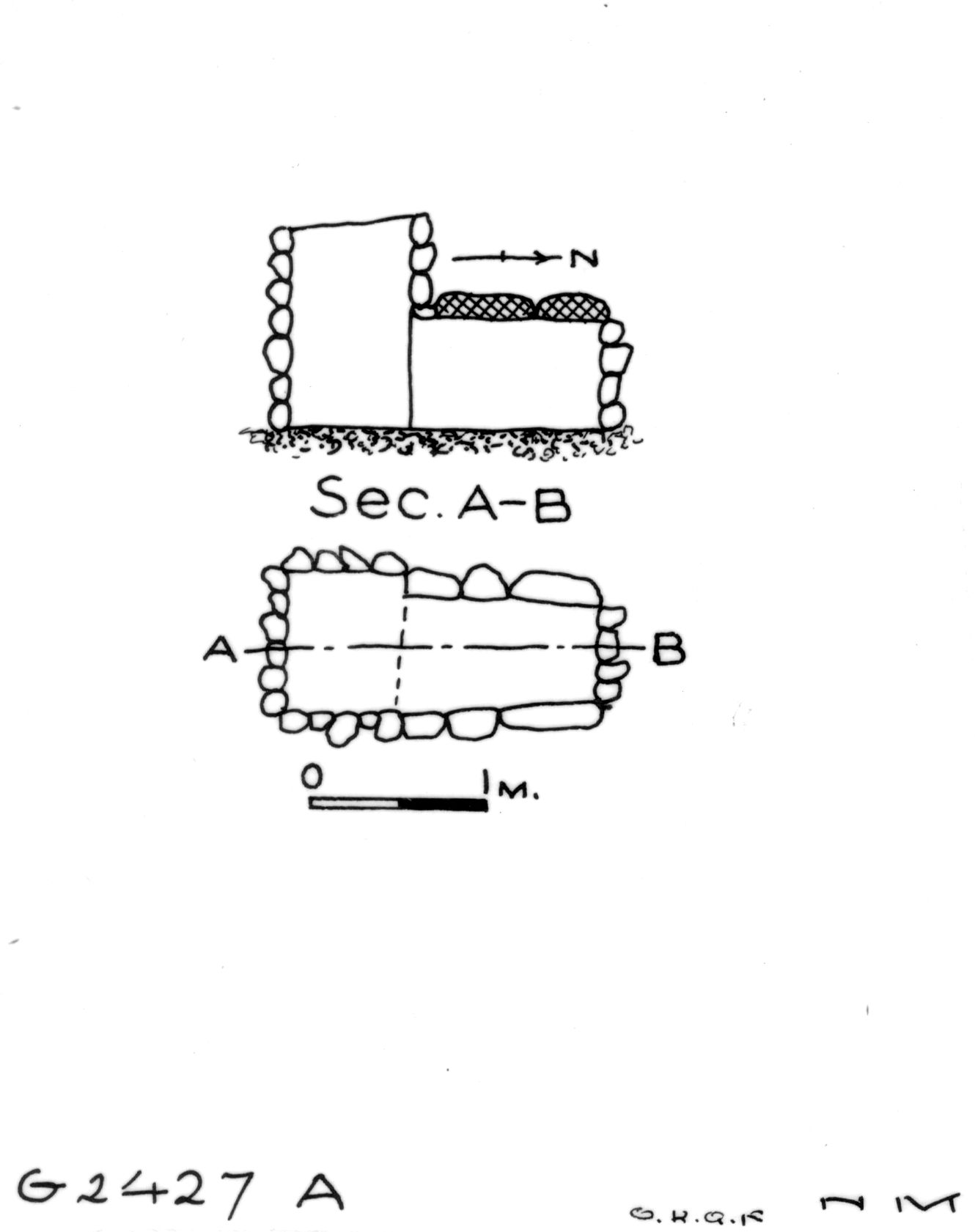 Maps and plans: G 2427, Shaft A
