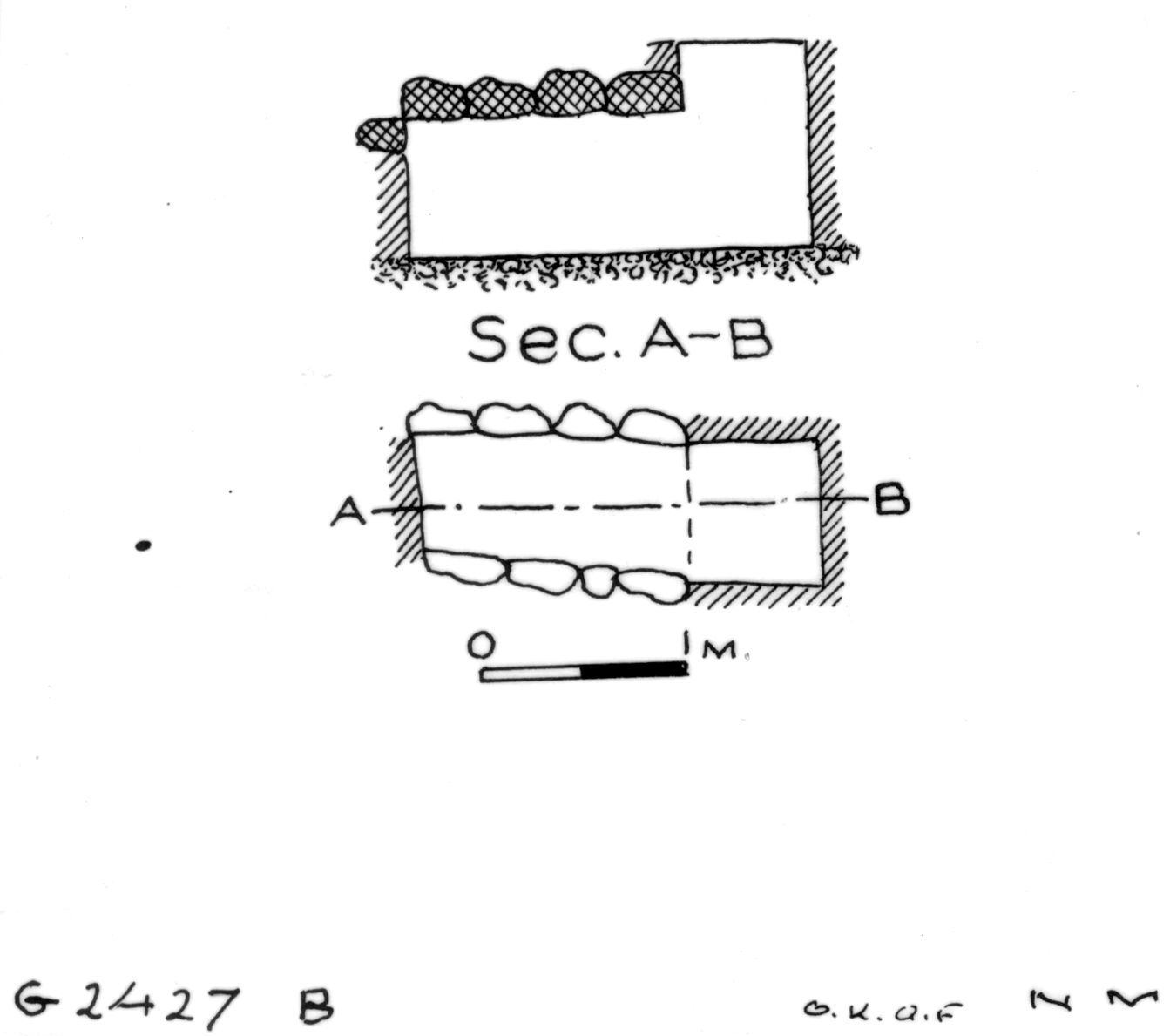 Maps and plans: G 2427, Shaft B