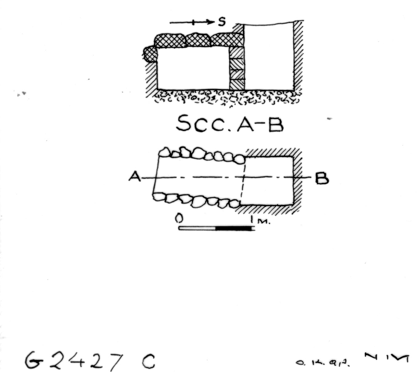 Maps and plans: G 2427, Shaft C