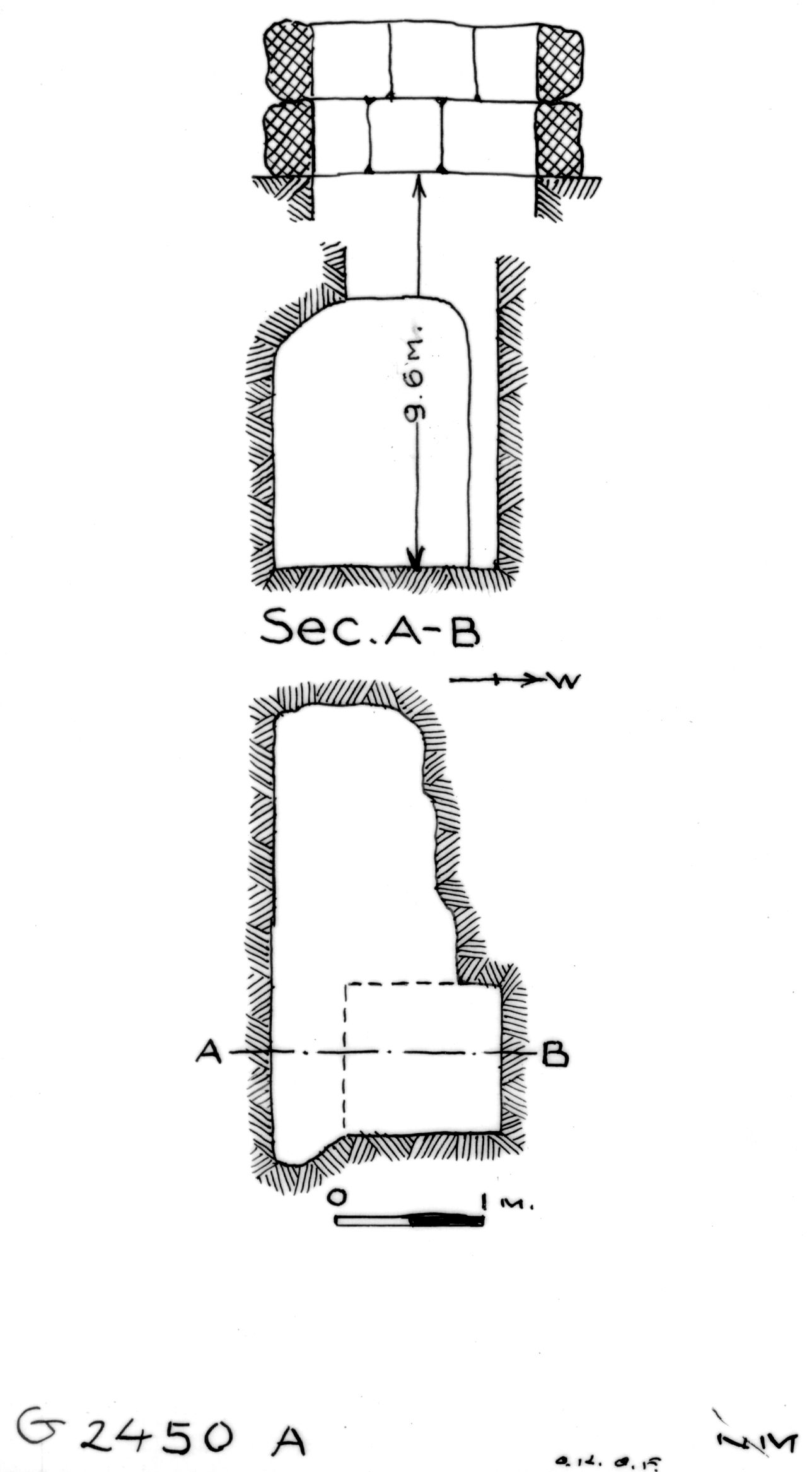 Maps and plans: G 2450, Shaft A