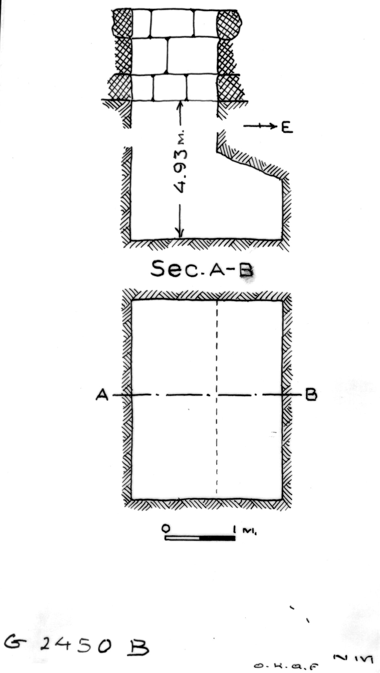 Maps and plans: G 2450, Shaft B