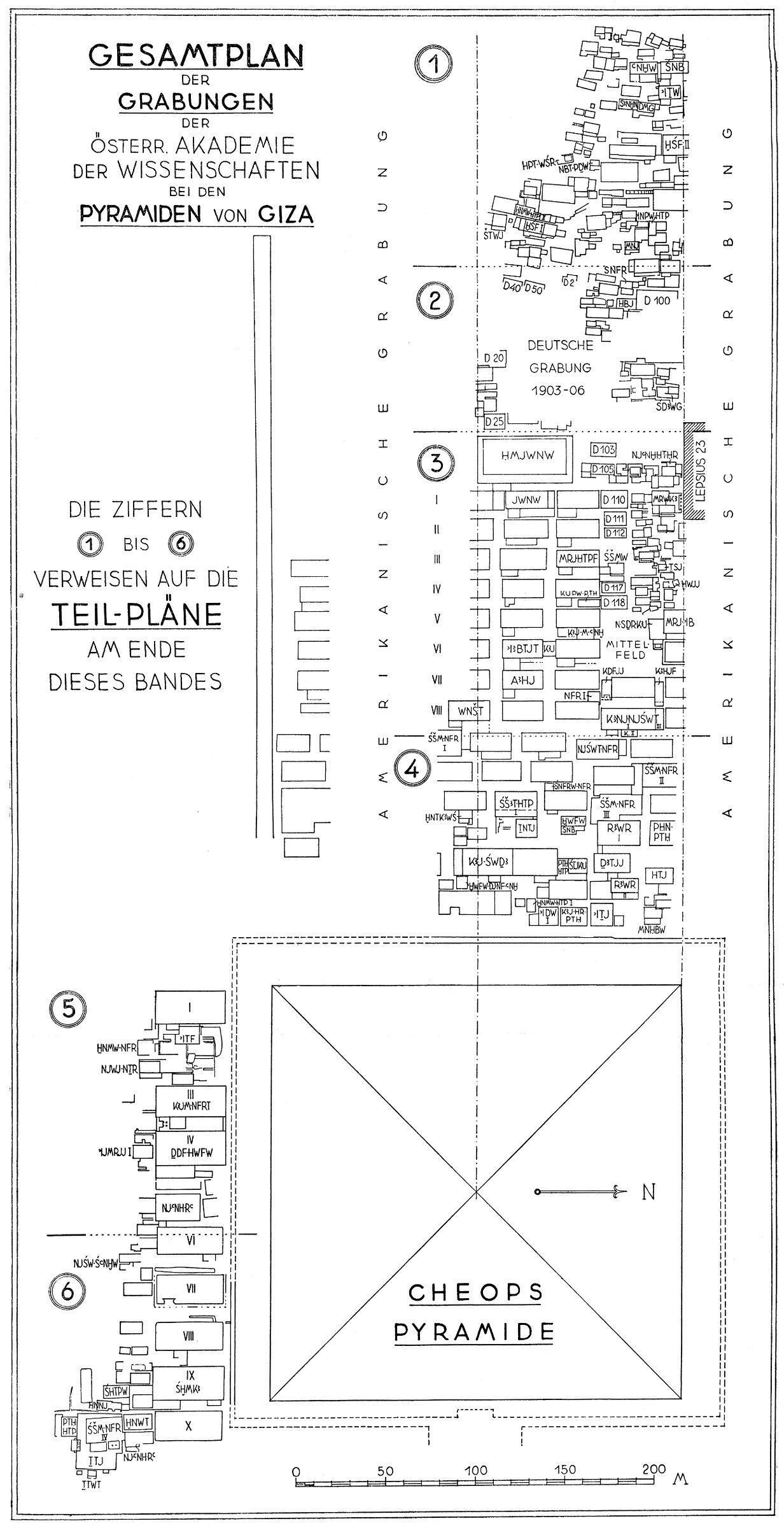 Maps and plans: Composite Plan of German-Austrian Excavation Concession