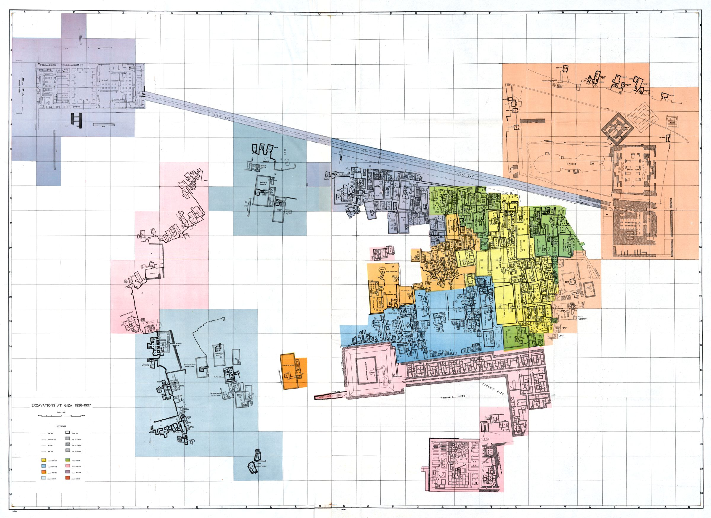 Maps and plans: General Plan of Central Field