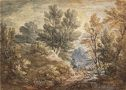 Wooded Landscape With Horseman