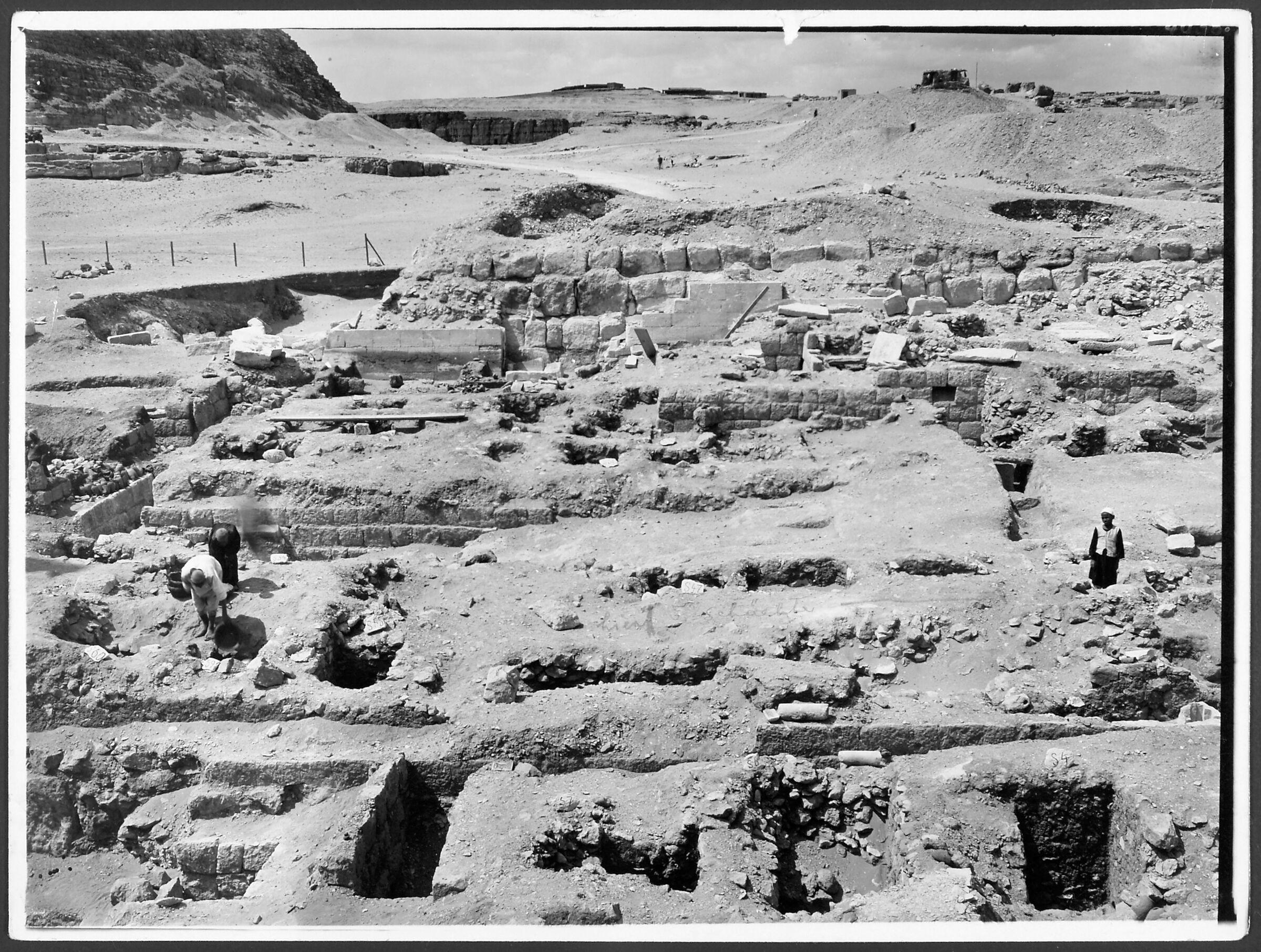 G I-South Cemetery: Site: Giza; View: Isu & Meshedu, S 47/177, S 28/97, Itjef, Mastaba I