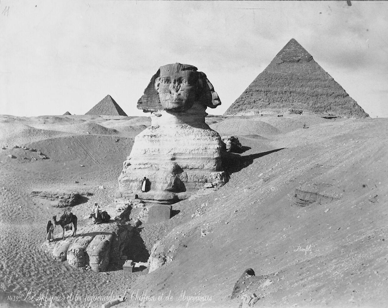 Sphinx/Sphinx temple: Site: Giza; View: Sphinx