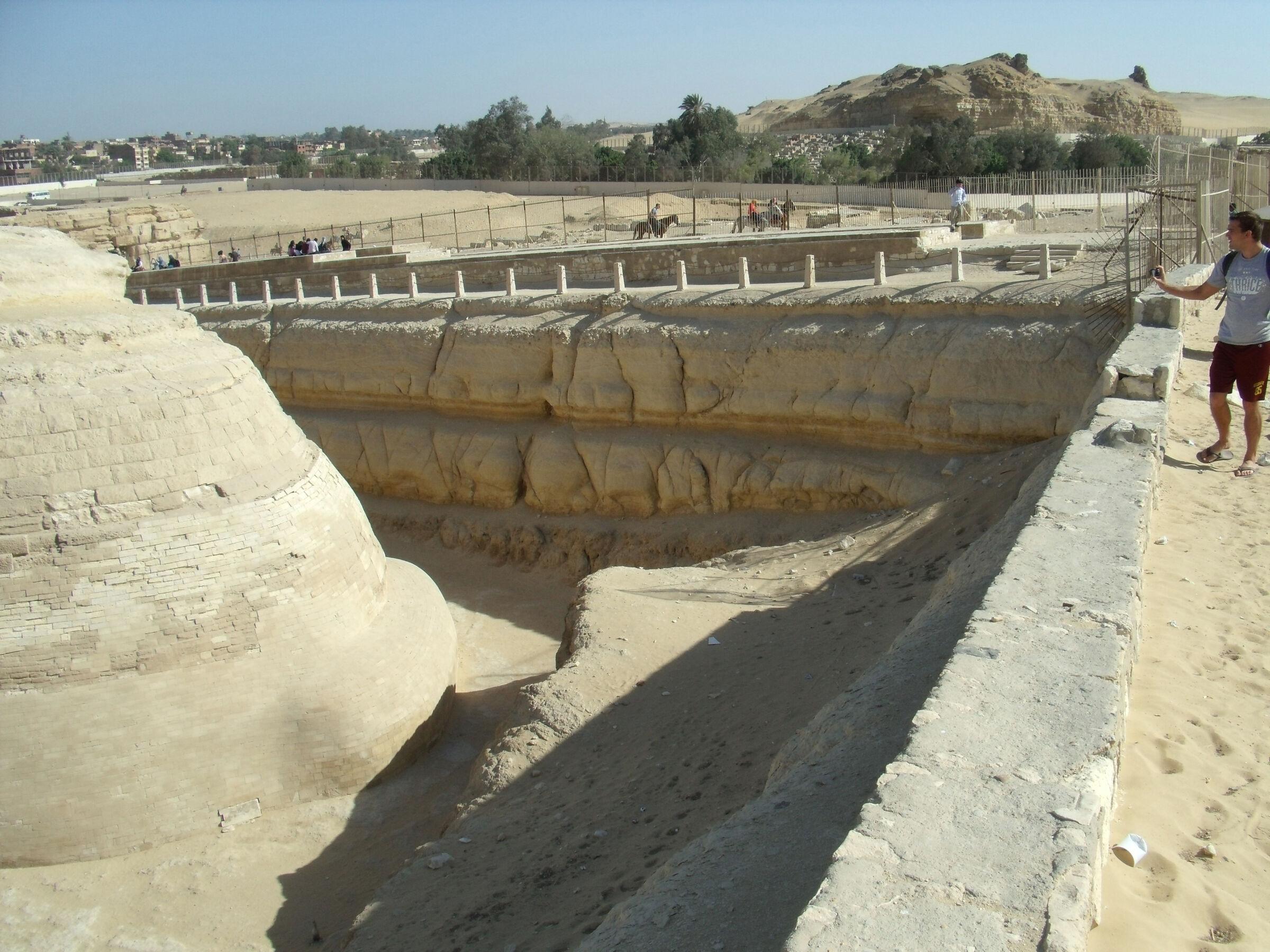 Sphinx Complex: Site: Giza; View: Sphinx, Temple of Amenhetep II