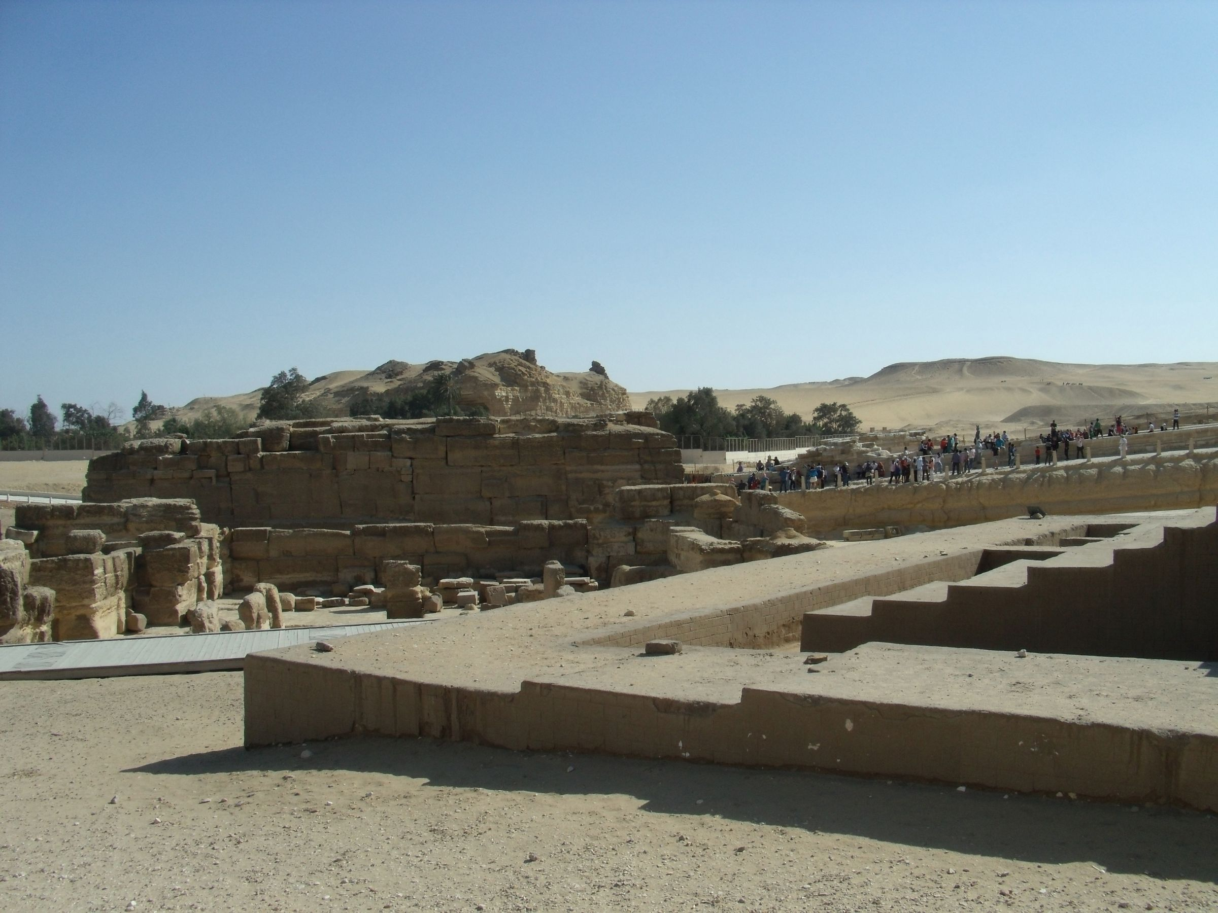 Sphinx Complex: Site: Giza; View: Sphinx Temple, Khafre Valley Temple, Temple of Amenhetep II