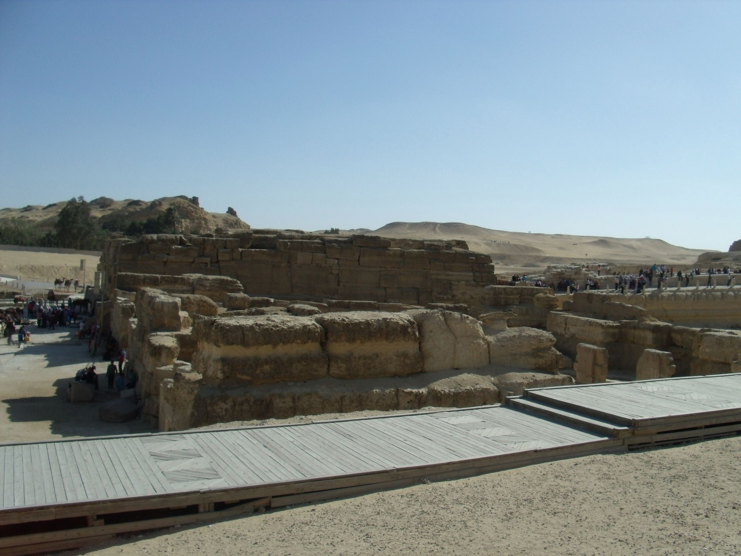 Sphinx Complex: Site: Giza; View: Sphinx, Sphinx Temple, Khafre Valley Temple