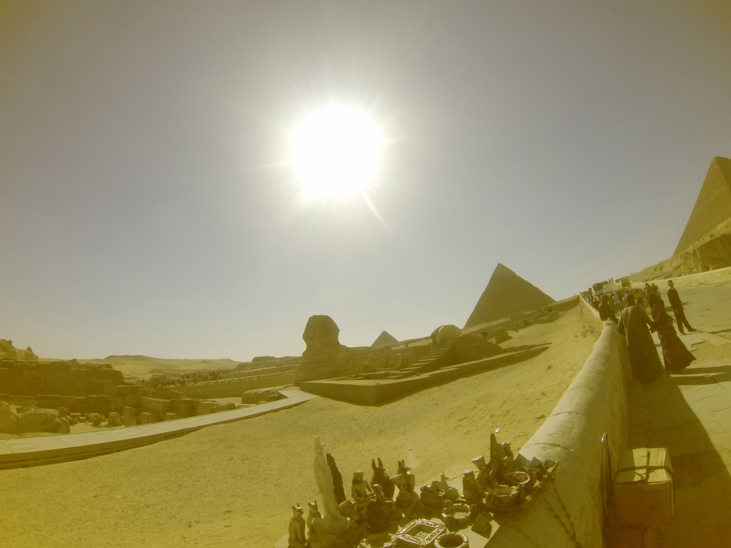 Khafre Pyramid Complex and Sphinx Complex: Site: Giza; View: Sphinx, Sphinx Temple, Khafre Valley Temple, Temple of Amenhetep II