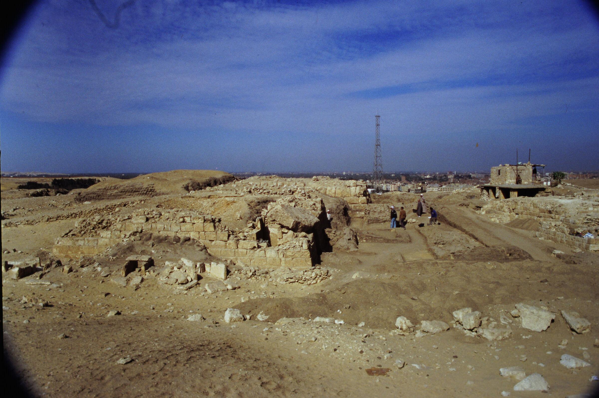 Abu Bakr Cemetery: Site: Giza; View:  Lepsius 19; Mastaba X (ABC); Lepsius 20-21
