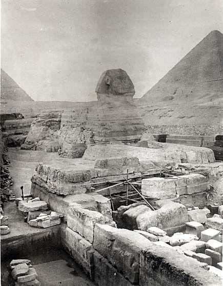 Sphinx/Sphinx temple: Site: Giza; View: Sphinx; Sphinx Temple
