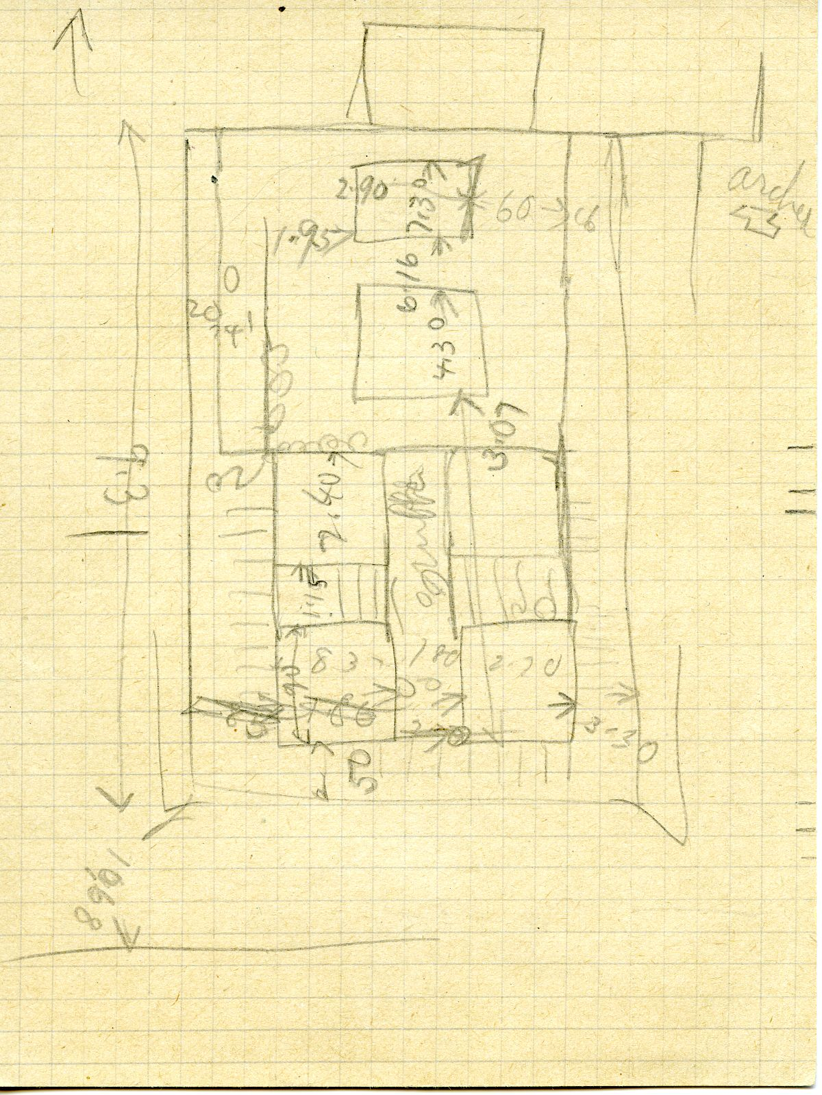 Maps and plans: Cemetery G 3000, Sketch plan