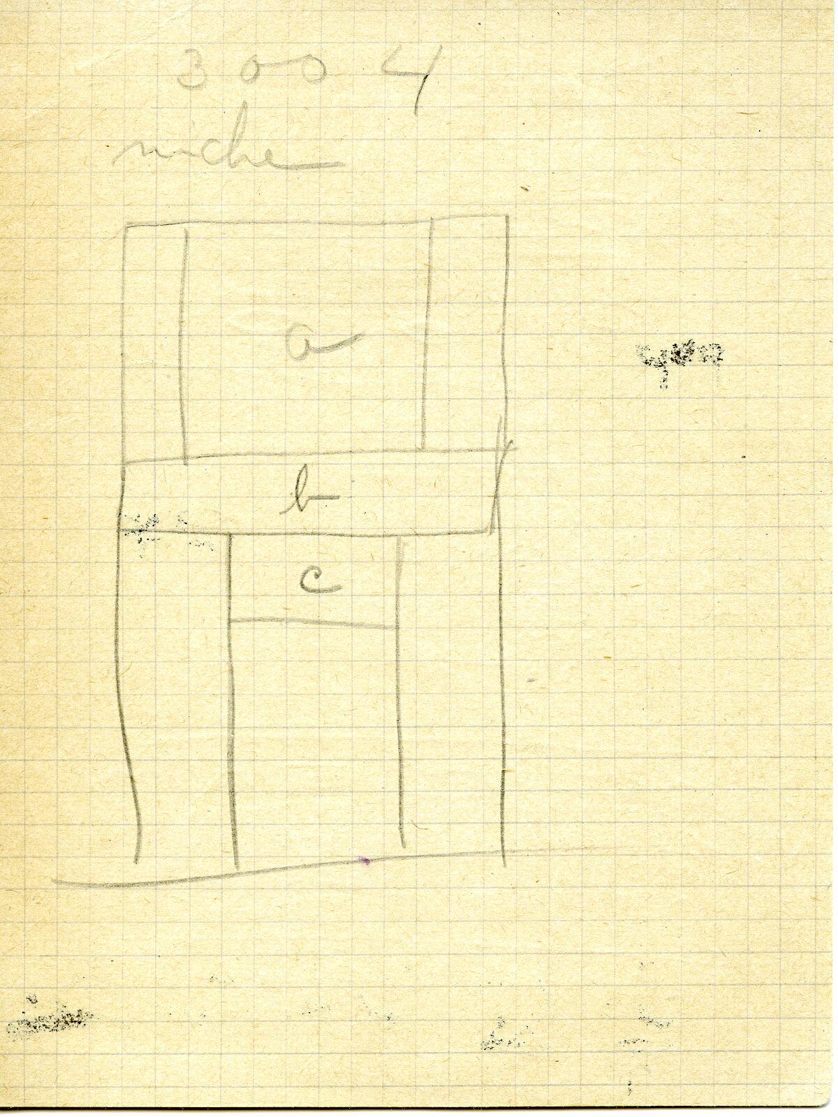 Maps and plans: G 3004, False door