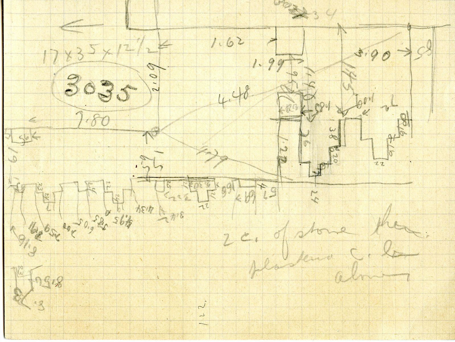 Maps and plans: Sketch plan of G 3035, G 3043