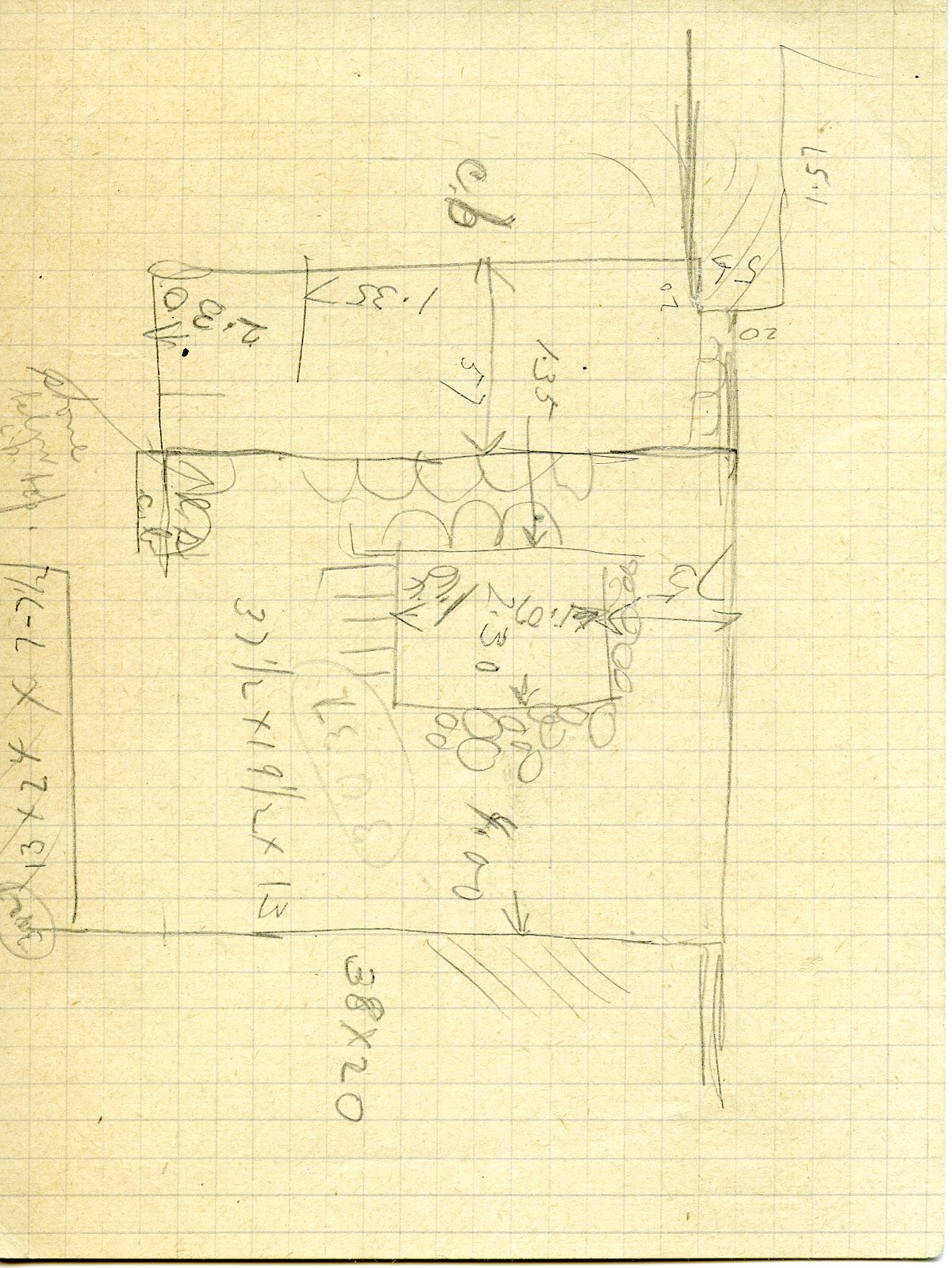 Maps and plans: G 3037(?), Sketch plan