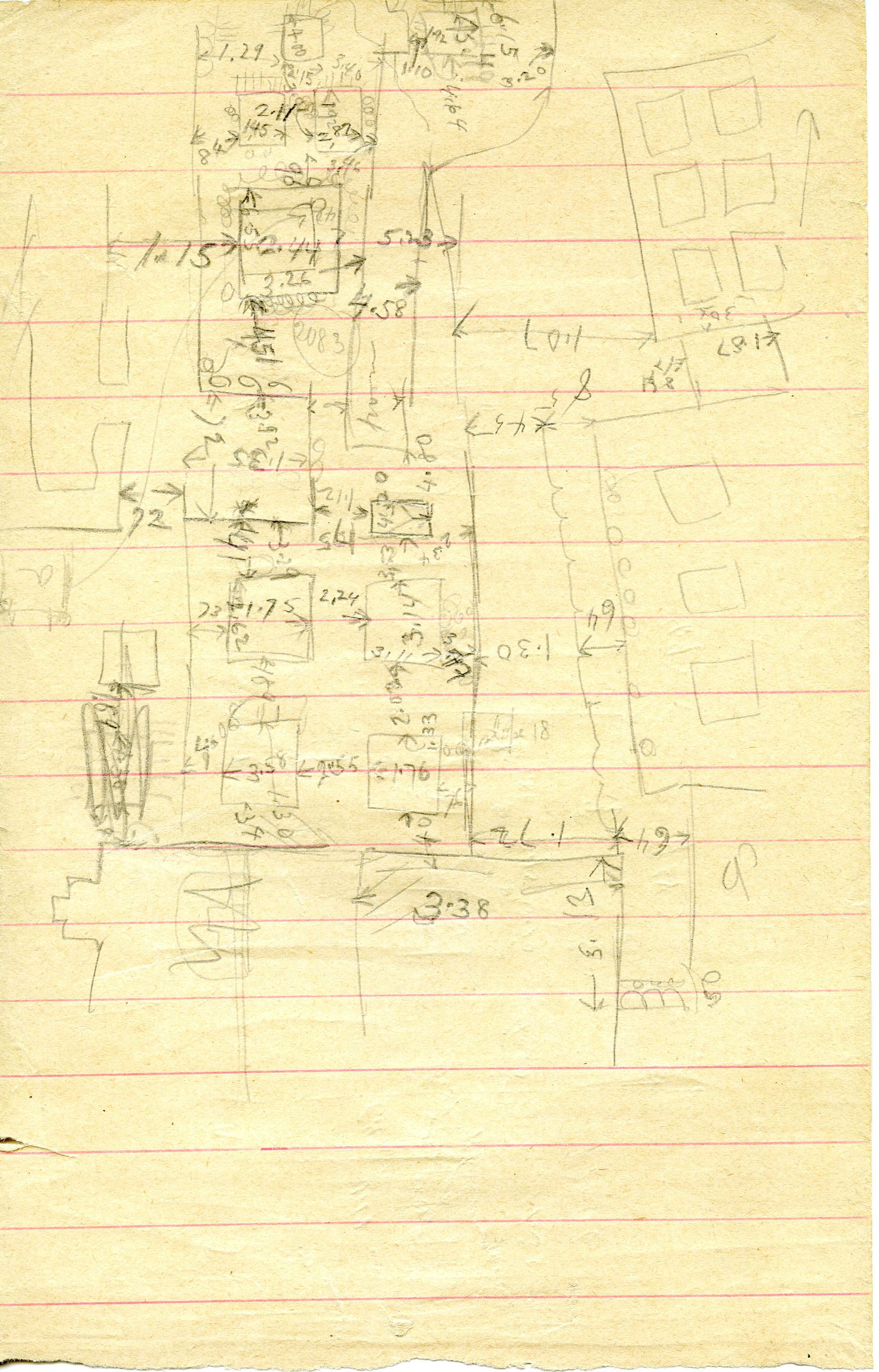 Maps and plans: Sketch plan of G 3083, G 3087