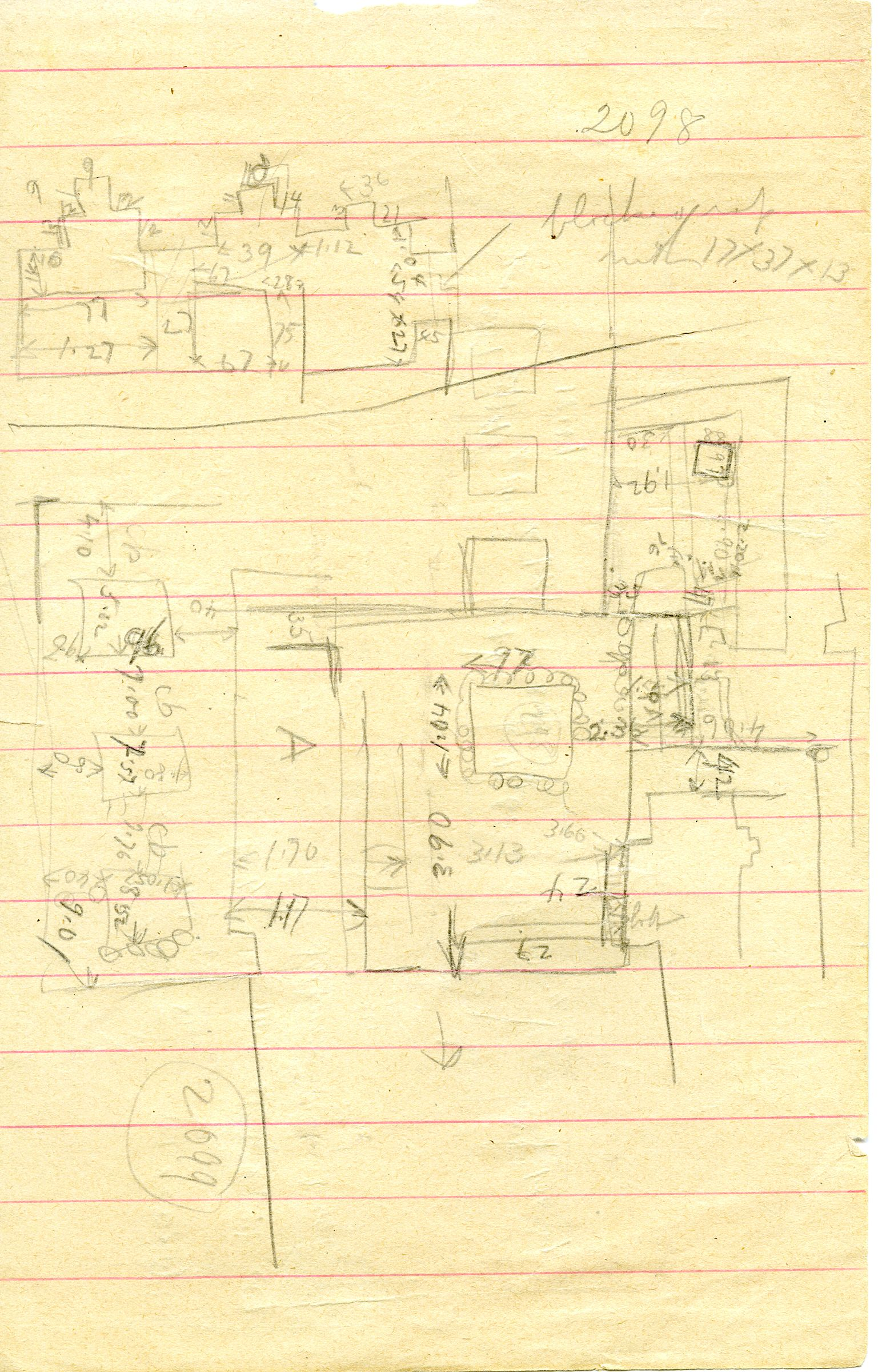 Maps and plans: G 3098, Sketch plans