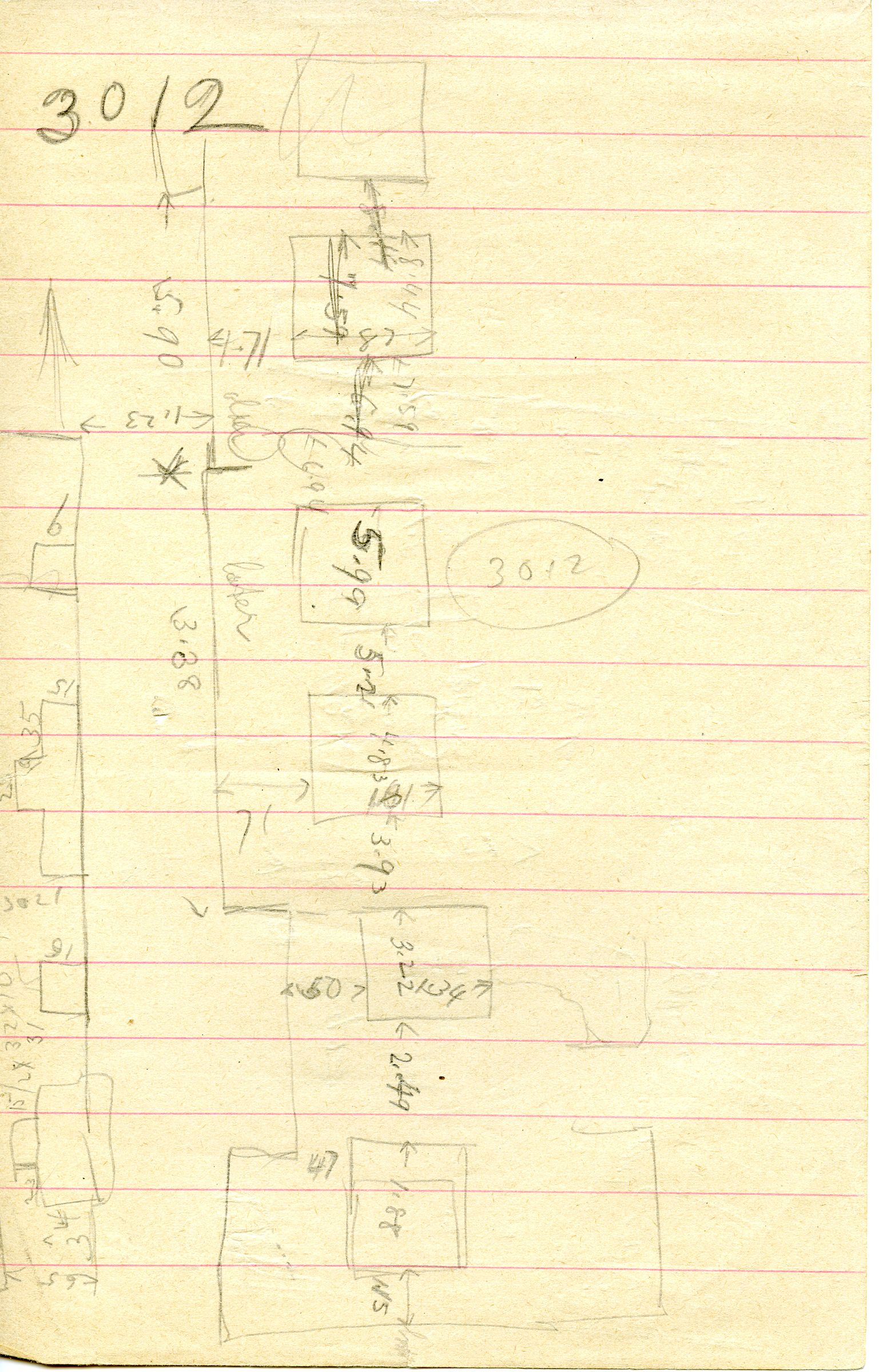 Maps and plans: G 3012, Sketch plan