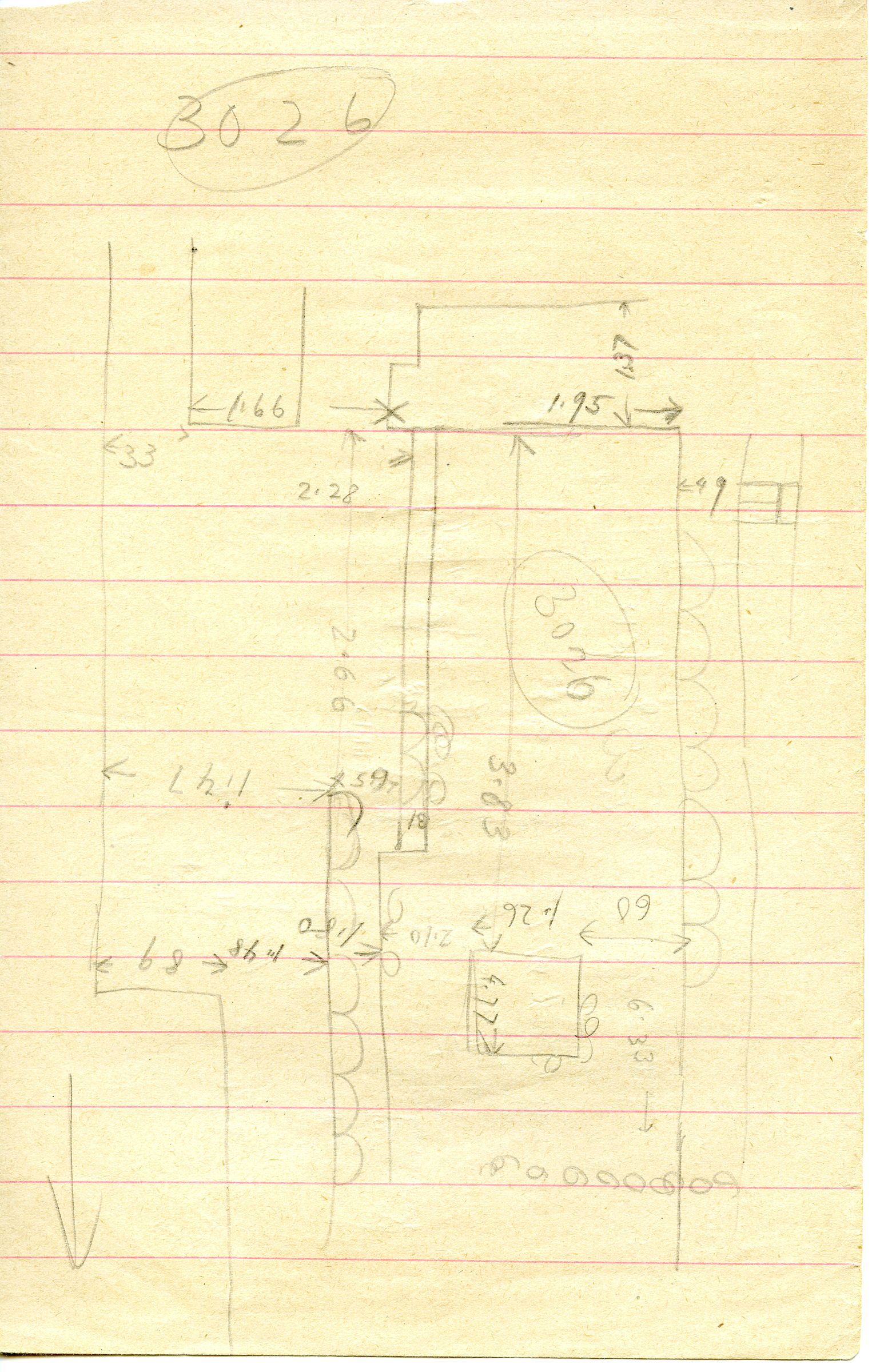 Maps and plans: G 3026, Sketch plan