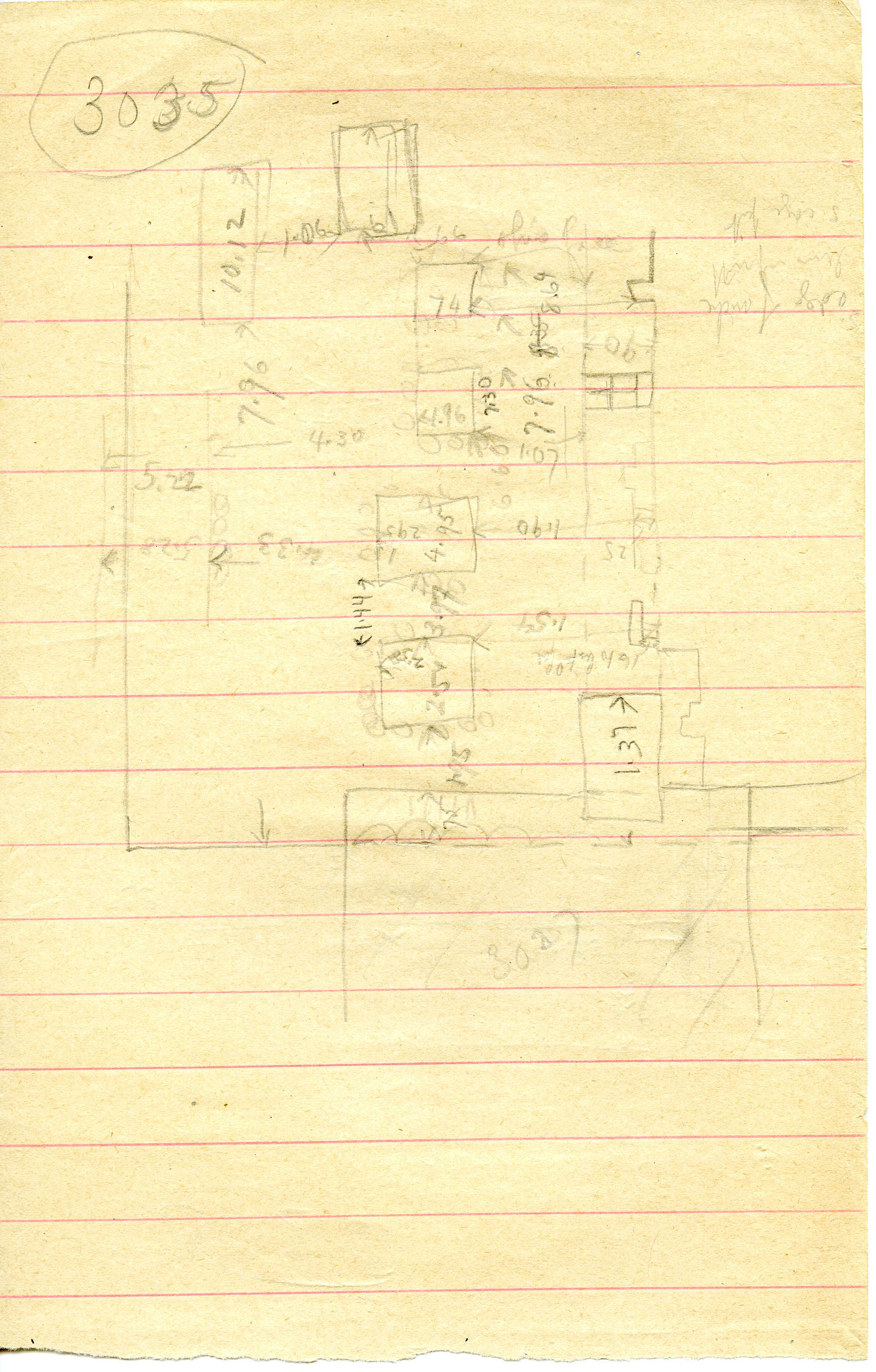 Maps and plans: G 3035, Sketch plan