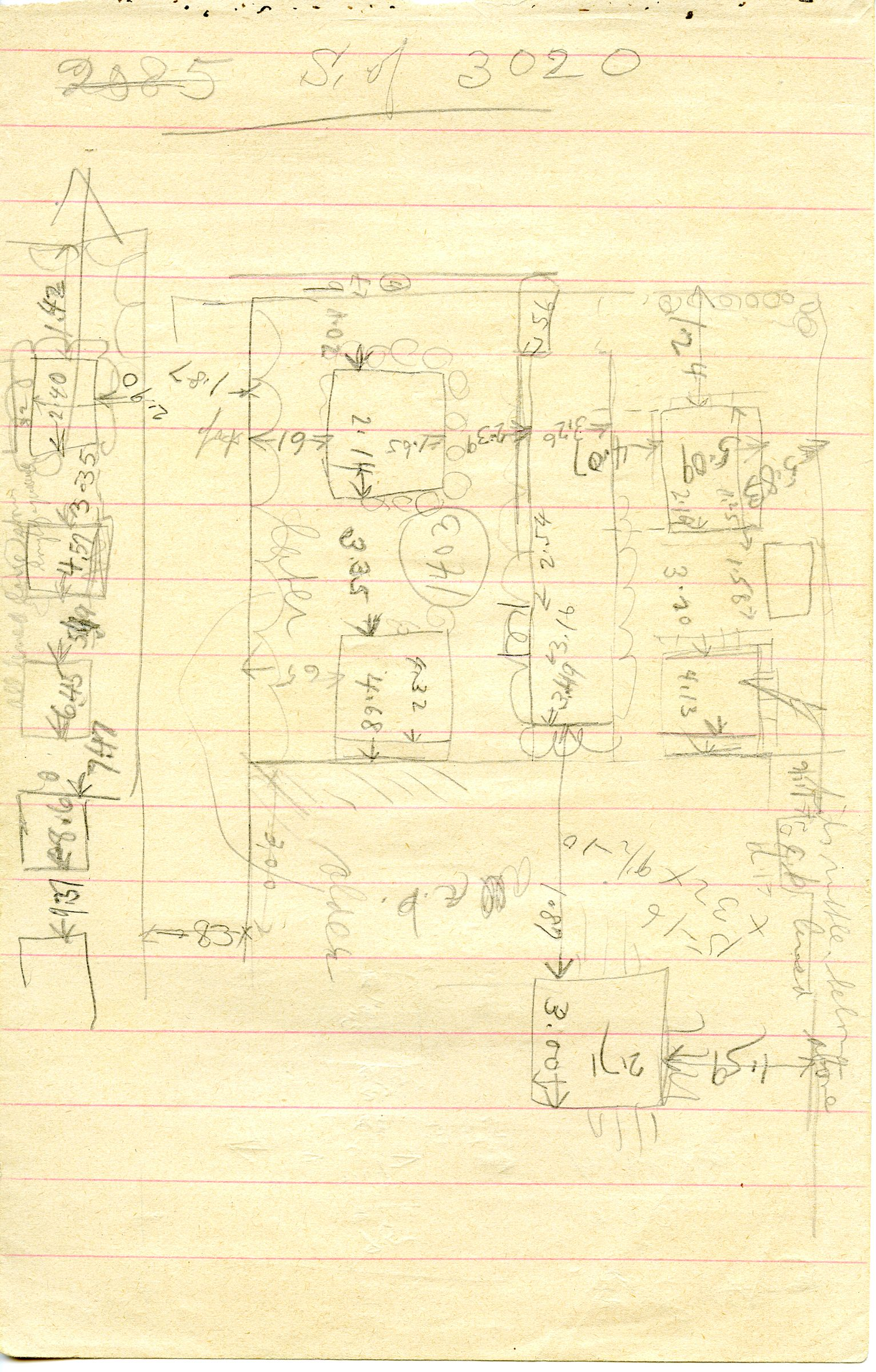 Maps and plans: Sketch plan of G 1402, G 1403, G 1413