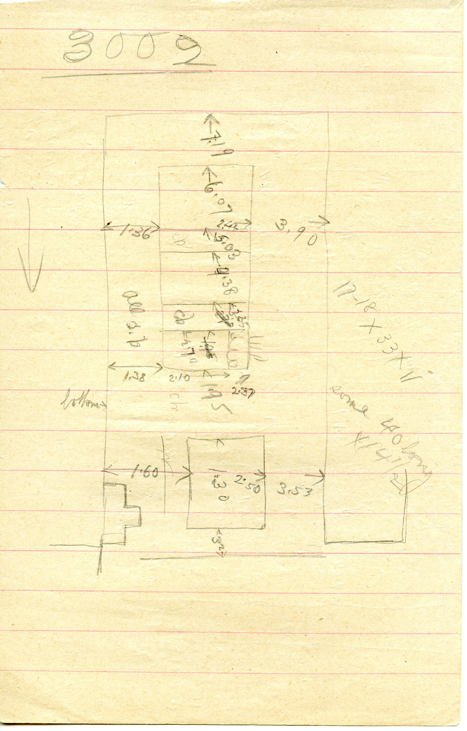 Maps and plans: G 3002, Sketch plan