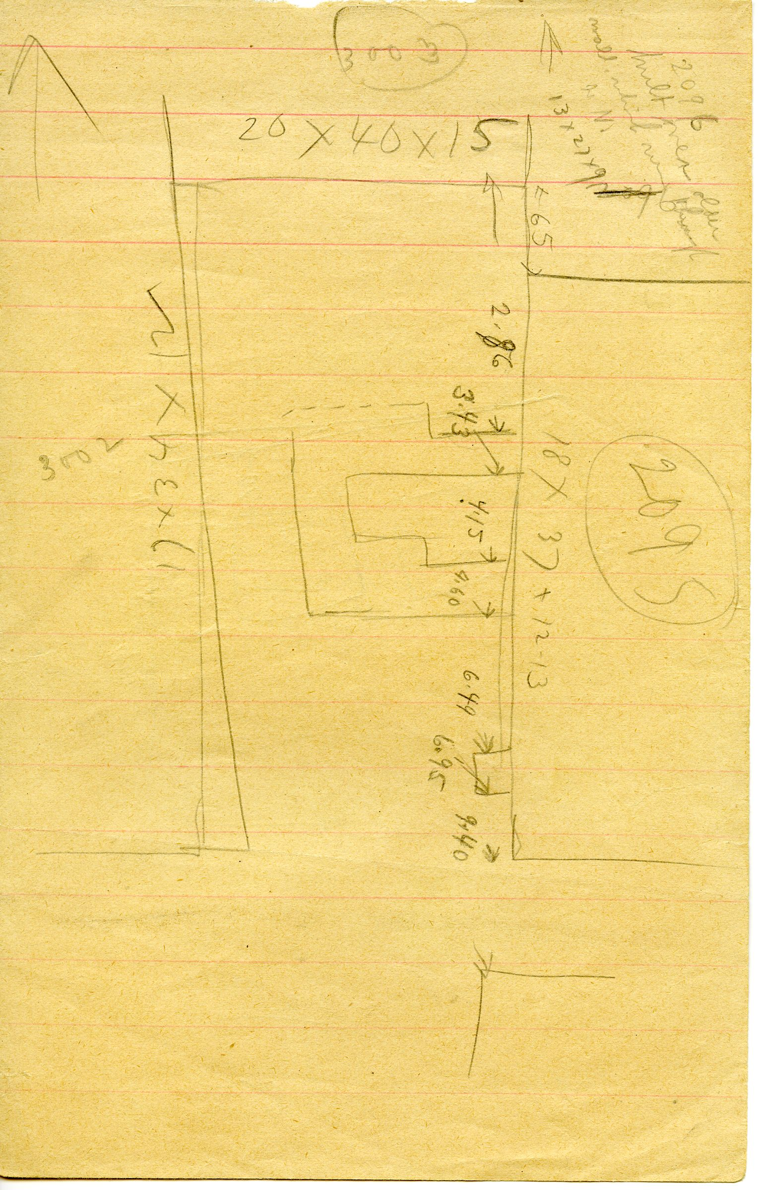 Maps and plans: Sketch plan of G 3002, G 3003, G 3095