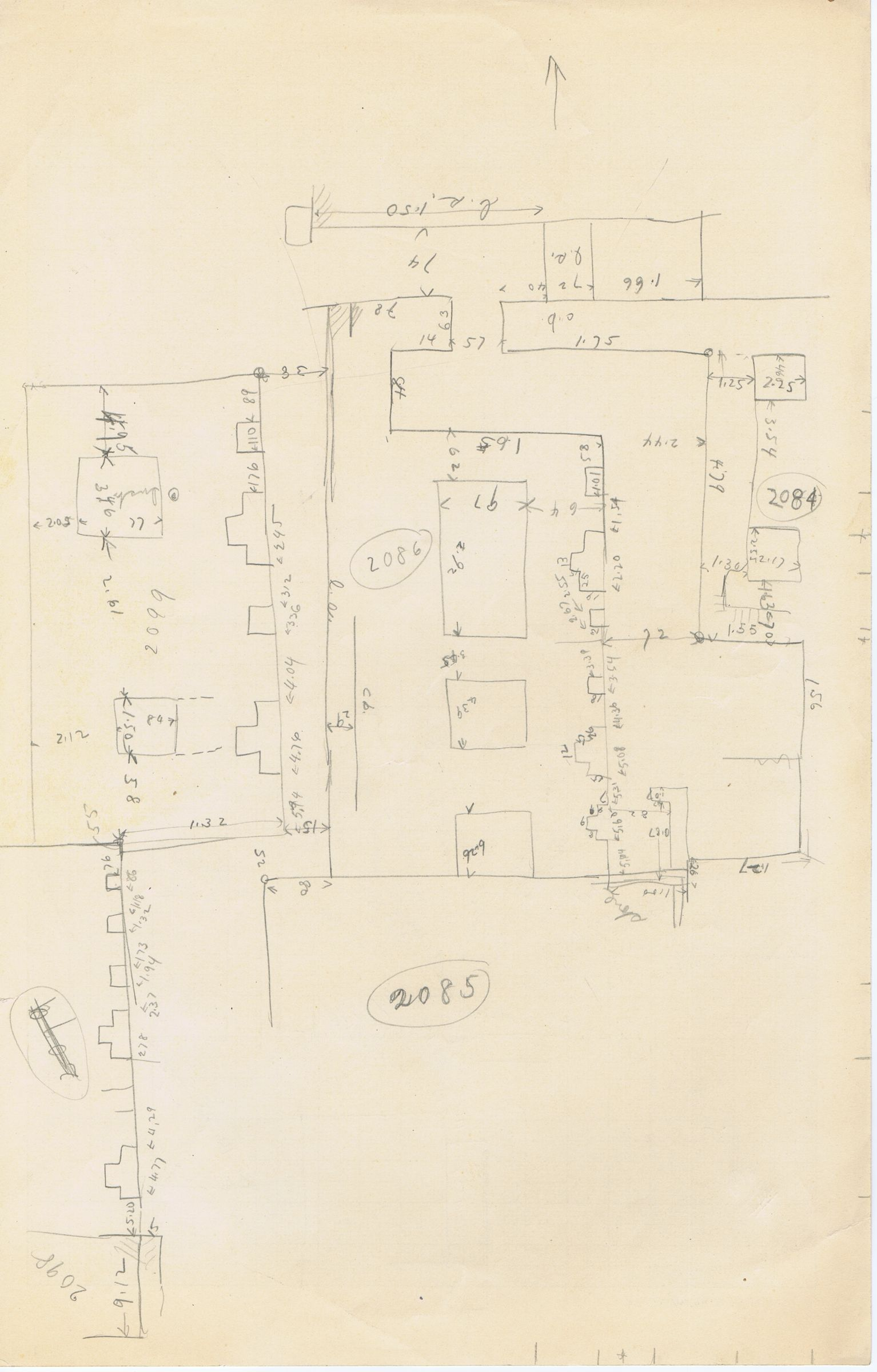 Maps and plans: Sketch plan of G 3084, G 3085, G 3086, G 3098, G 3099