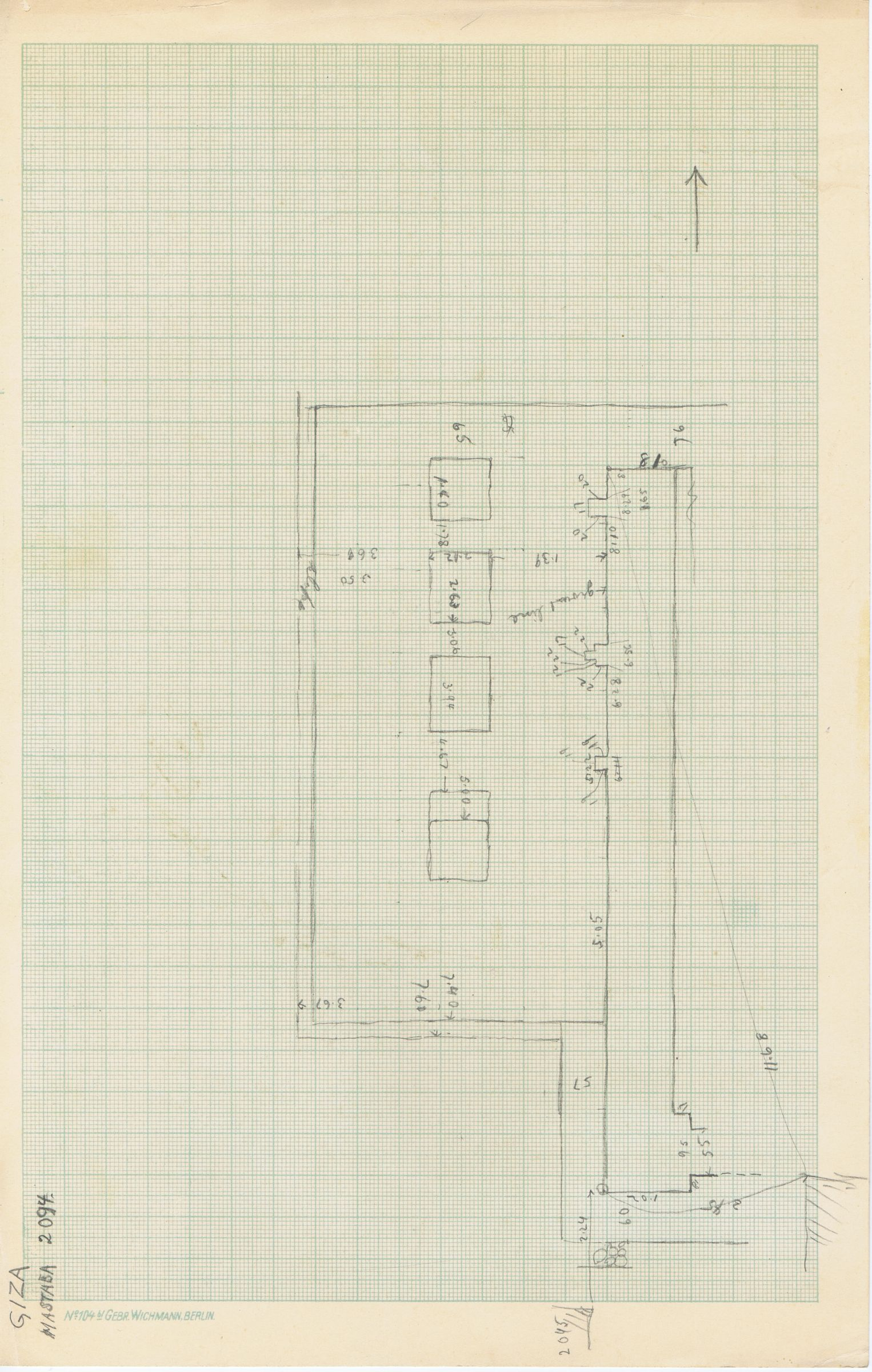 Maps and plans: Sketch plan of G 3094