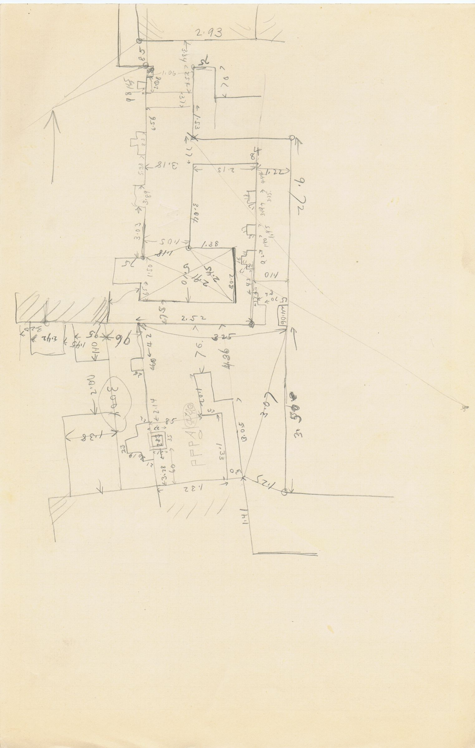 Maps and plans: Sketch plan of G 3004 and G 3005
