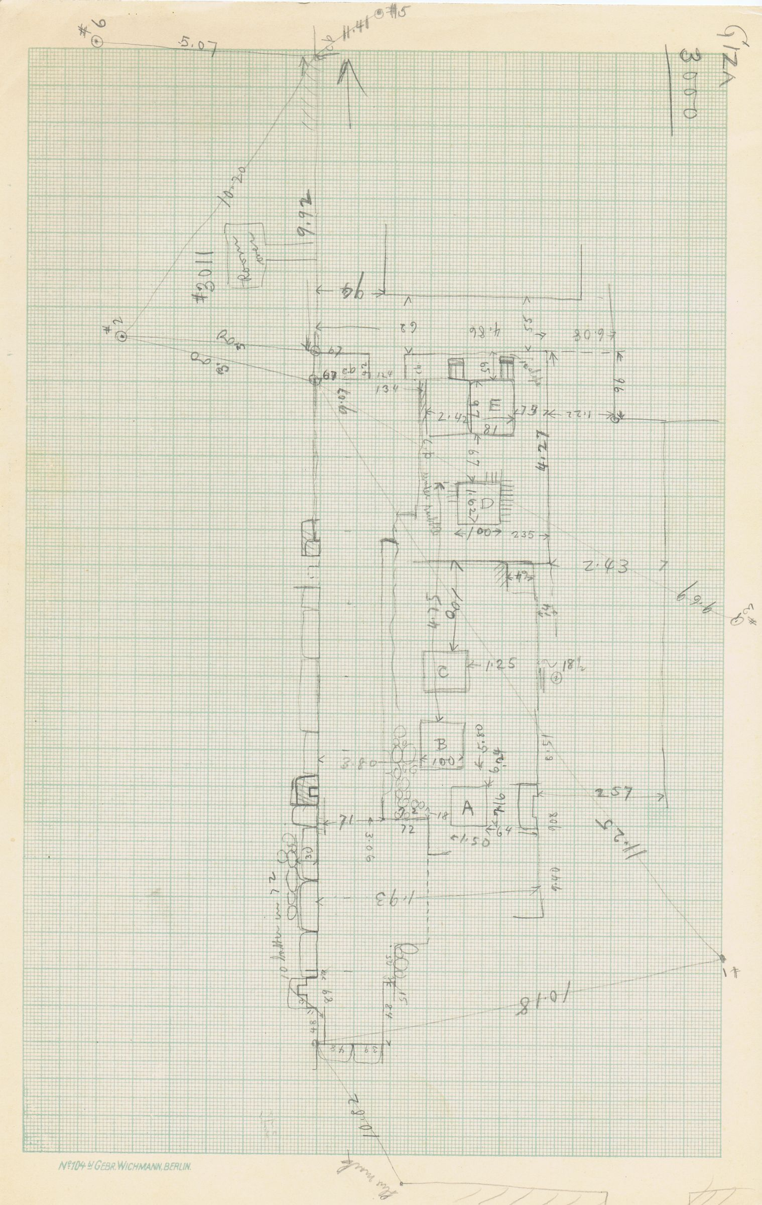 Maps and plans: Sketch plan of G 3000
