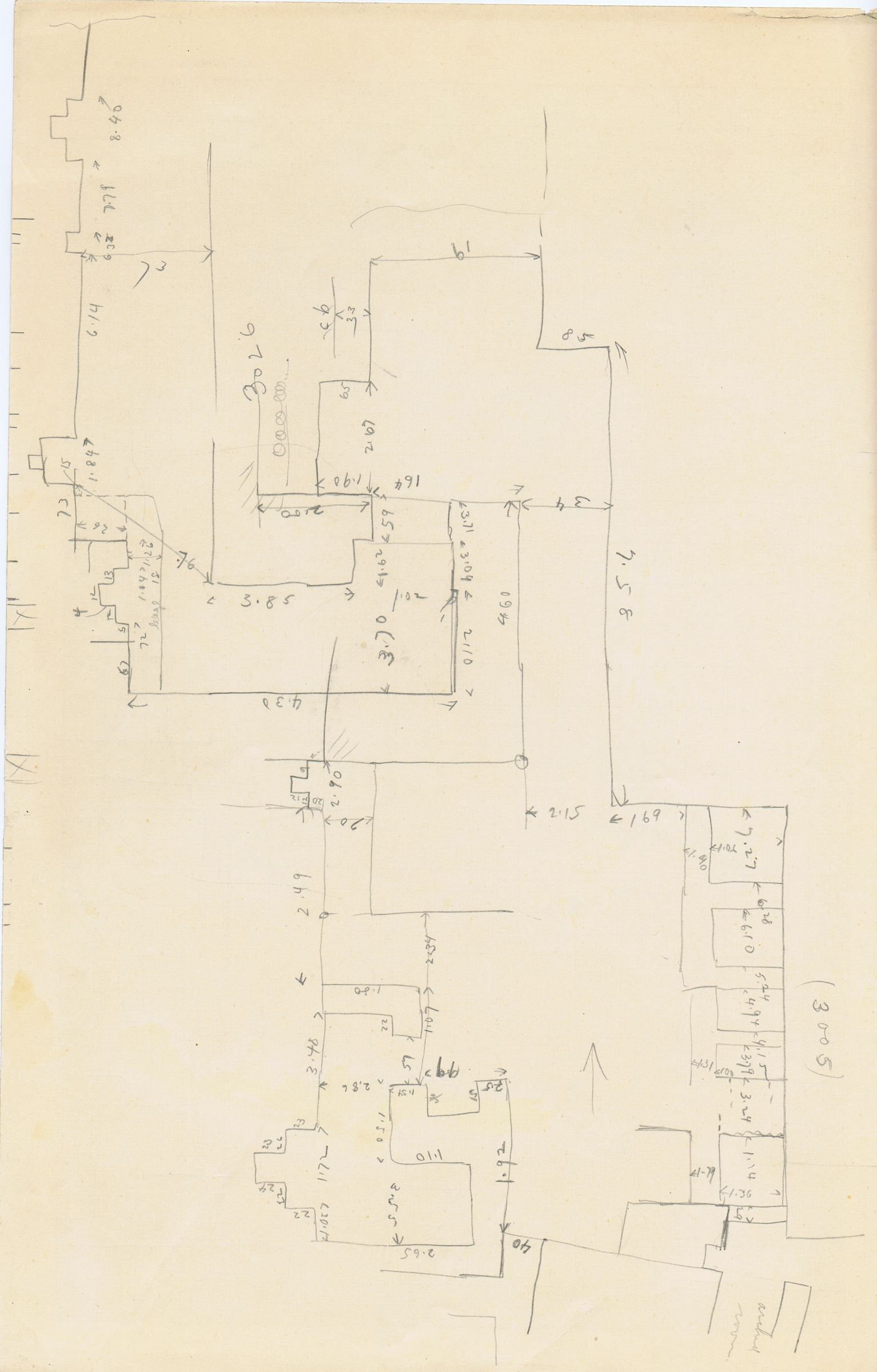 Maps and plans: Sketch plan of G 3005, G 3008, G 3024, G 3025, G 3026, G 3034, G 3035