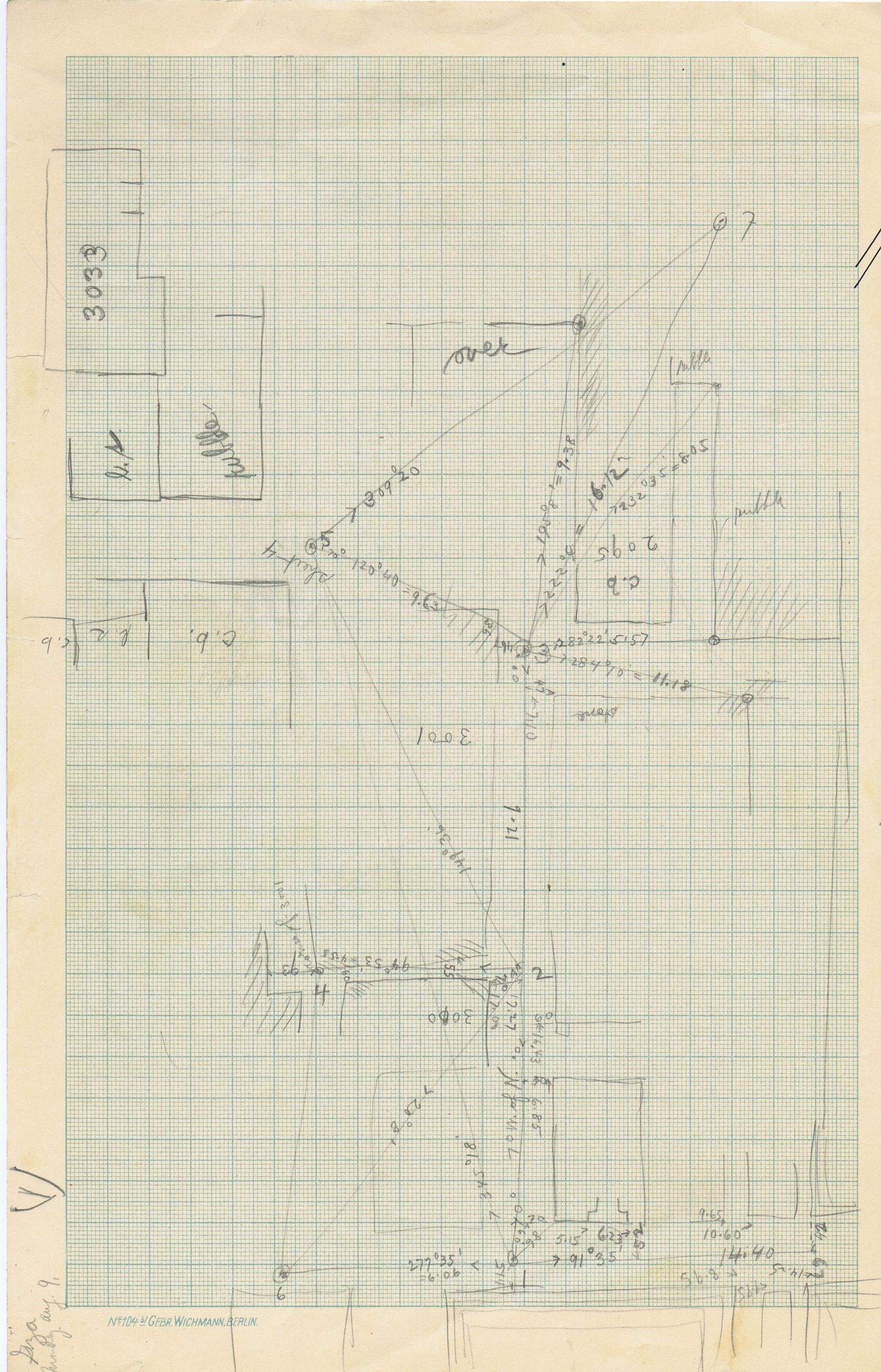 Maps and plans: Sketch plans of G 3000, G 3001, G 3095, and G 3033