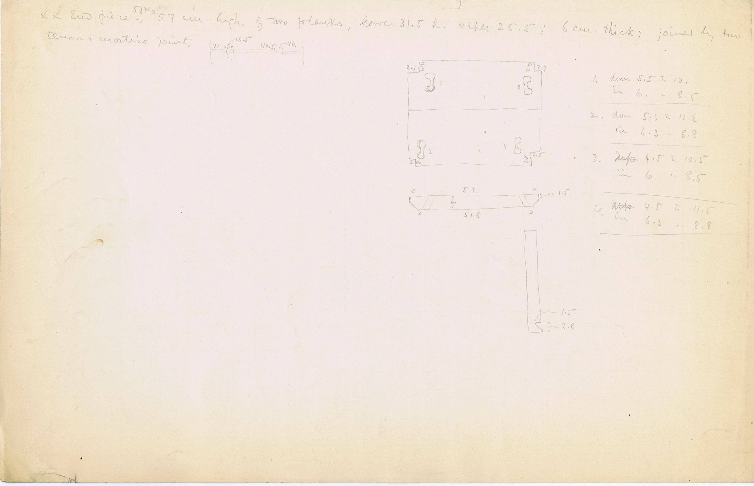 Maps and plans: G 3041, Shaft A: Wooden coffin