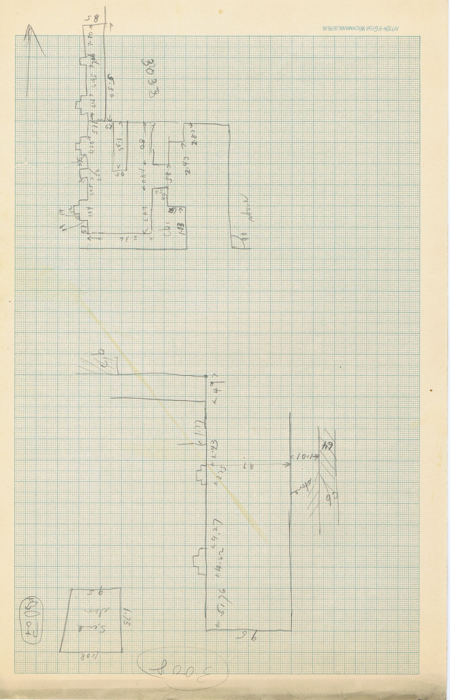 Maps and plans: Sketch plans of G 3008, G 3033