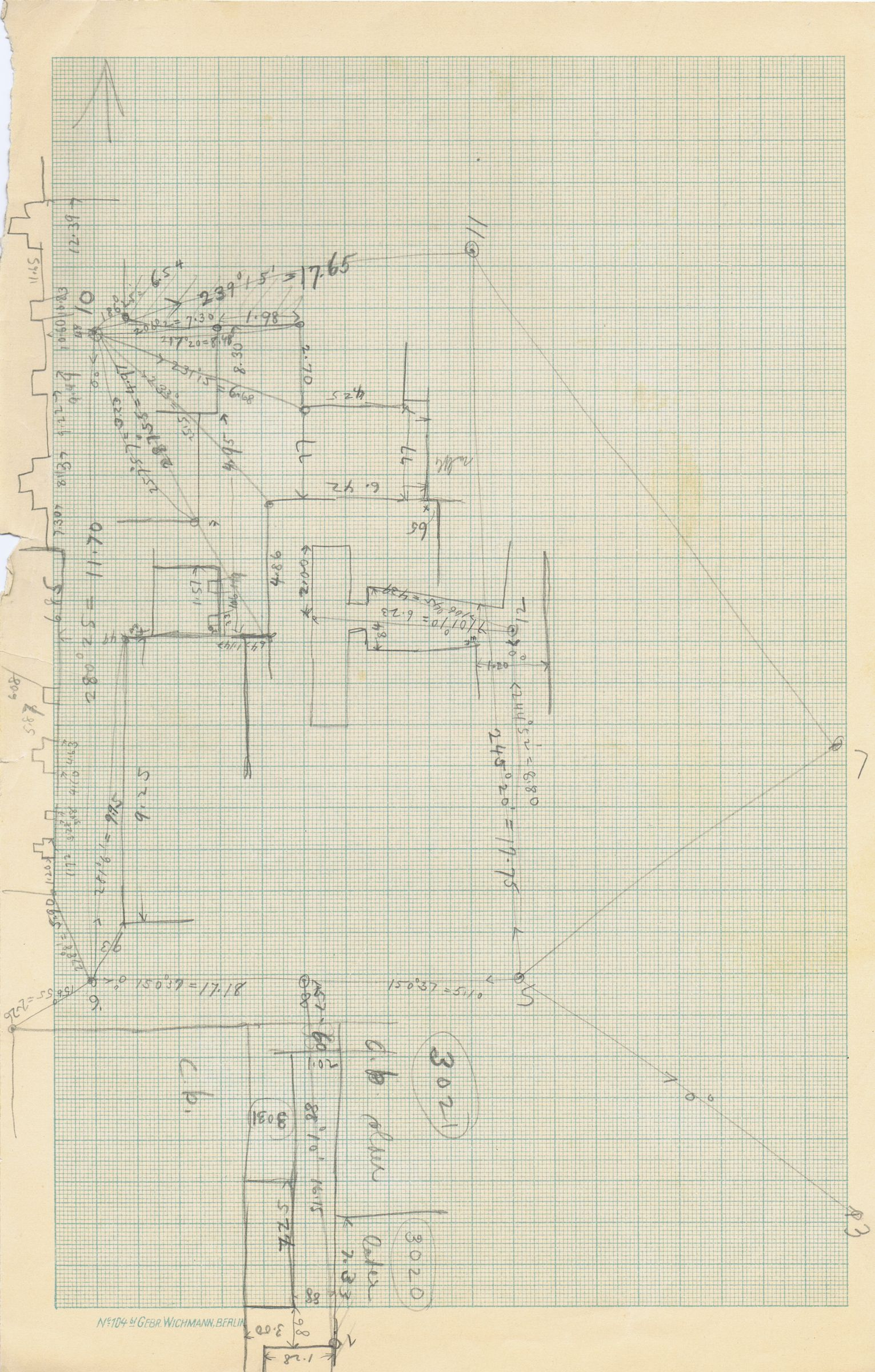 Maps and plans: Sketch plan of G 3020, G 3021(?)