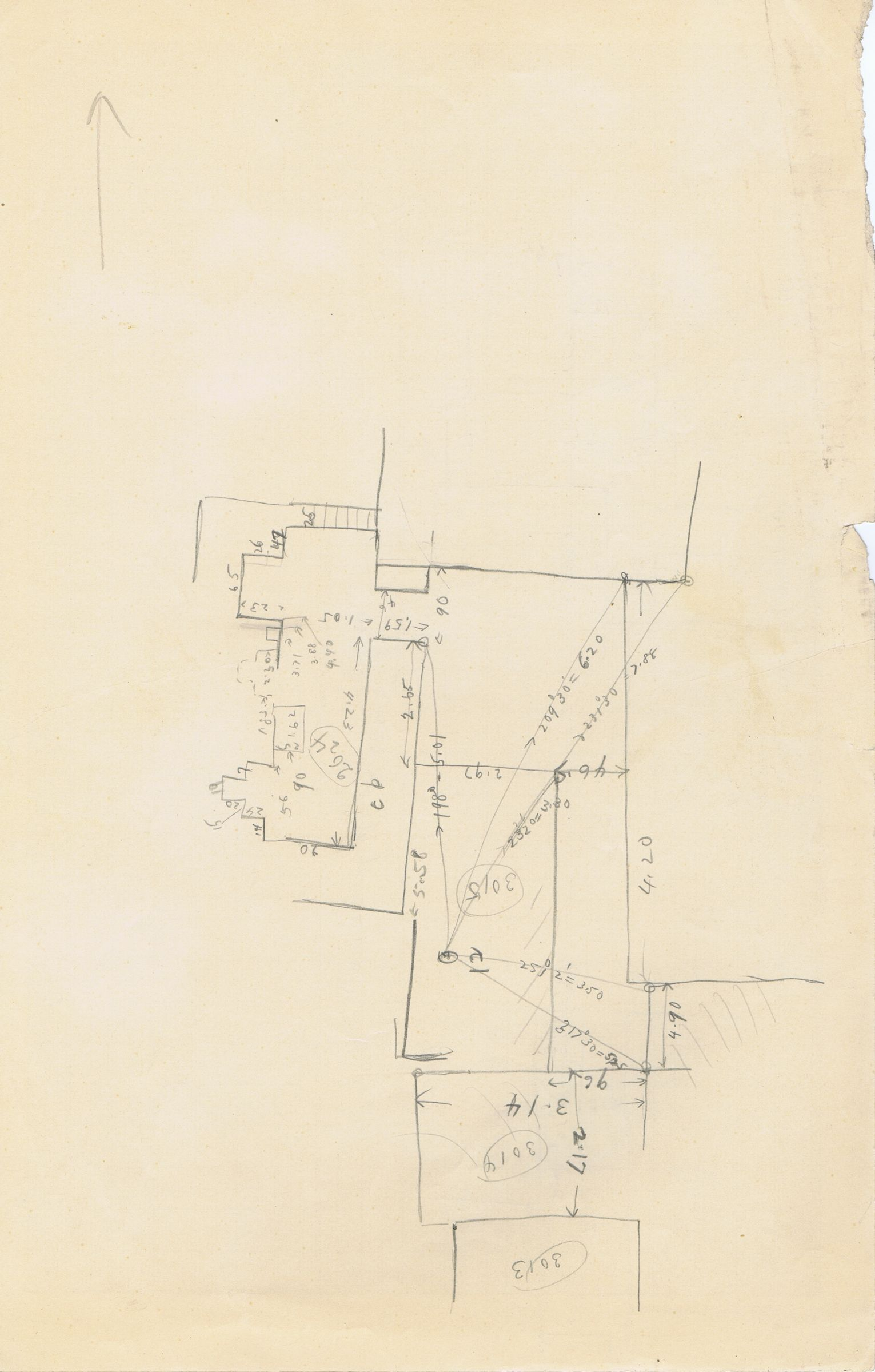 Maps and plans: Sketch plan of G 3013+3014, G 3015, G 3024