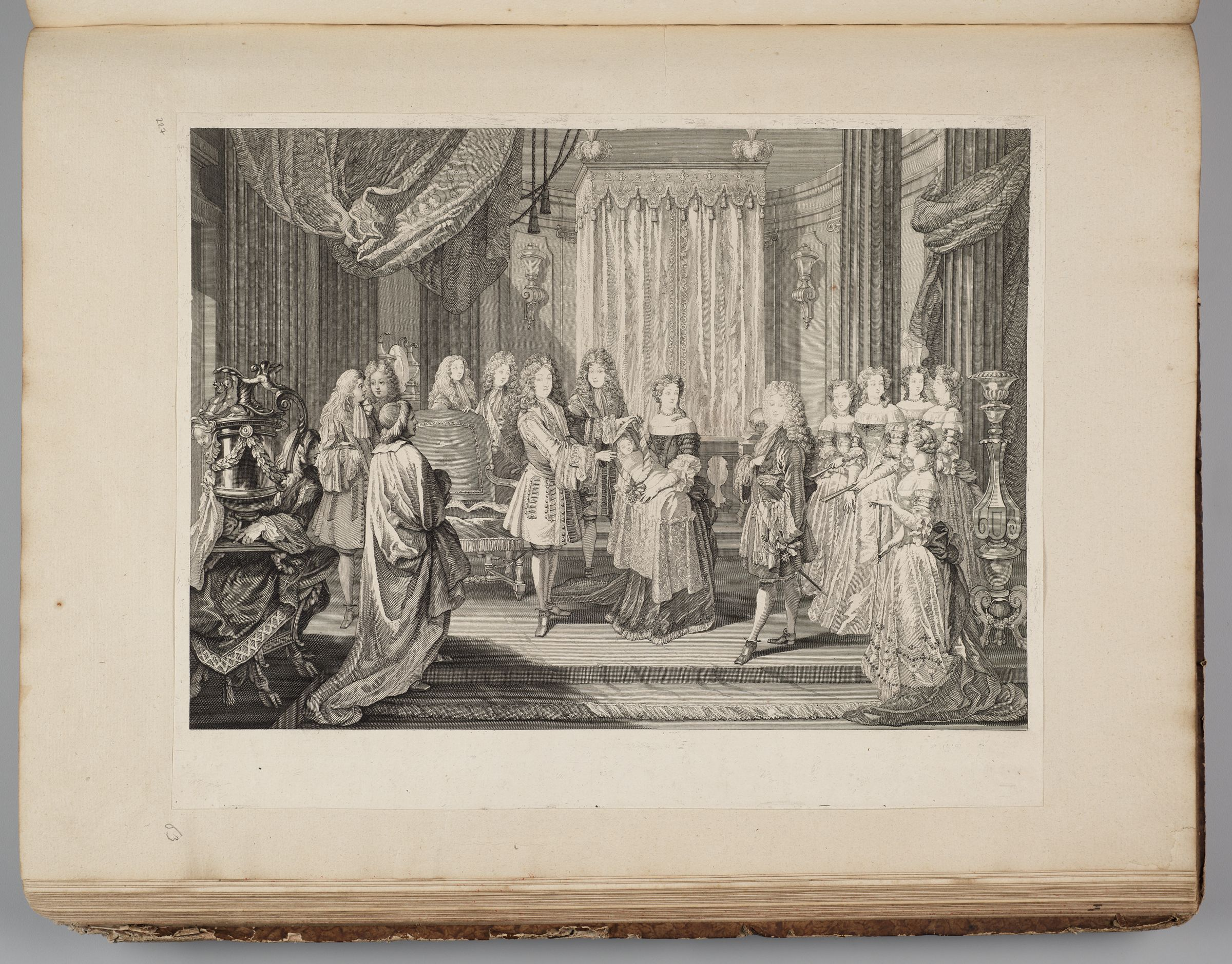 Louis Xiv Awarding The Blue Ribbon Of The Order Of The Holy Spirit To The Duke Of Burgundy, Father Of Louis Xv, The Reigning King Of France