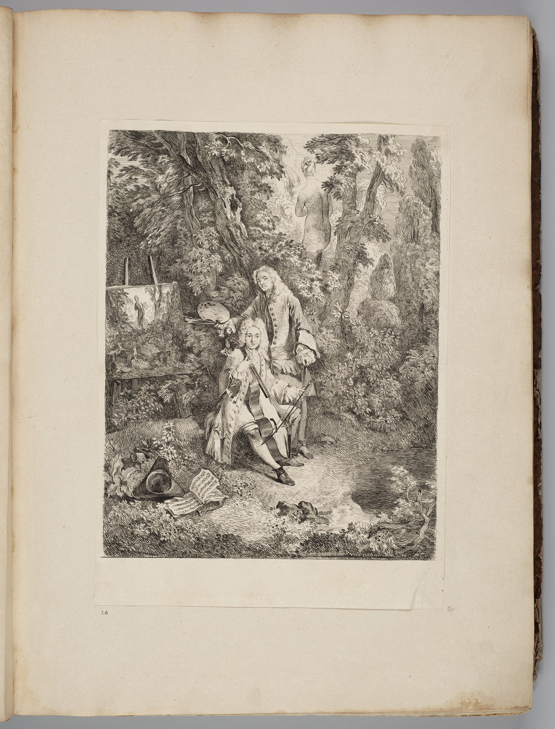 Watteau At His Easel, Jullienne Playing The Cello, In A Shady Grove