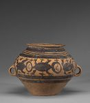 Wide-mouthed jar with pictorial decoration