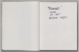 Untitled (Blank, Left Page); Untitled (Text, Right Page)