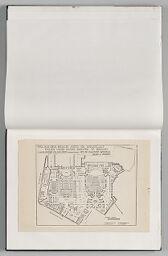 Untitled (Blank, Left Page); Untitled (Pasted Architectural Plan For Palais Des Beaux Arts De Bruxelles)
