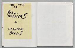 Untitled (Pasted Sheet, Left Page); Untitled (Blank, Right Page)