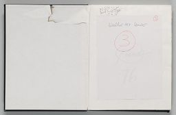Untitled (Blank, Front Endpaper, Left Page); Untitled (Piene Signature, Right Page)
