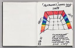 Untitled (Blank, Left Page); Untitled (Design For Exhibition Space, Right Page)