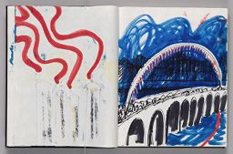 Untitled (Bleed-Through Of Previous Page, Left Page); Untitled (Design For Neon Rainbow Across Bridge, Right Page)