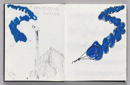Untitled (Bleed-Through Of Previous Page, Left Page); Untitled (Design For Wind Sock, Right Page)